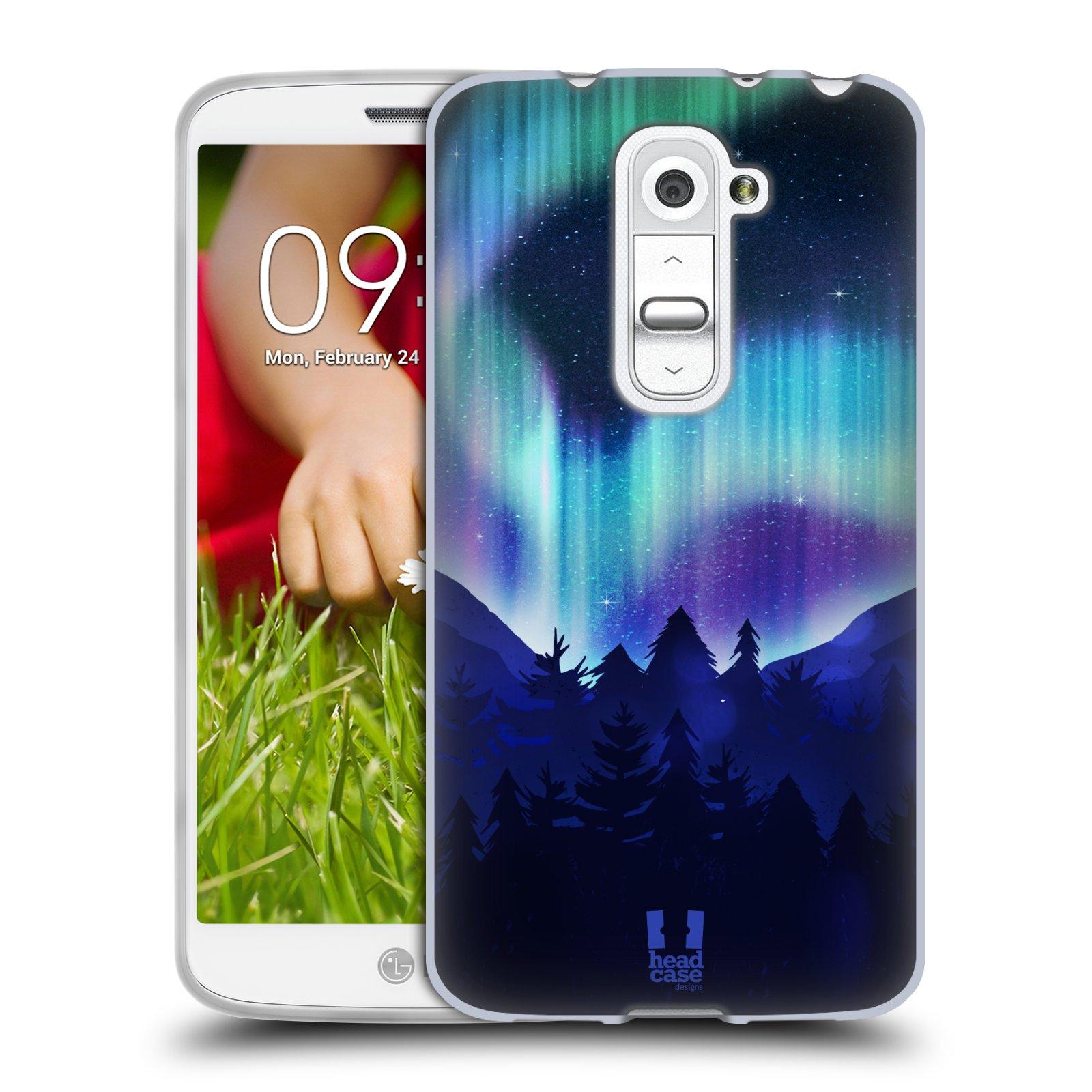 Silikonové pouzdro na mobil LG G2 Mini HEAD CASE Polární Záře Borovice (Silikonový kryt či obal na mobilní telefon LG G2 Mini D620)