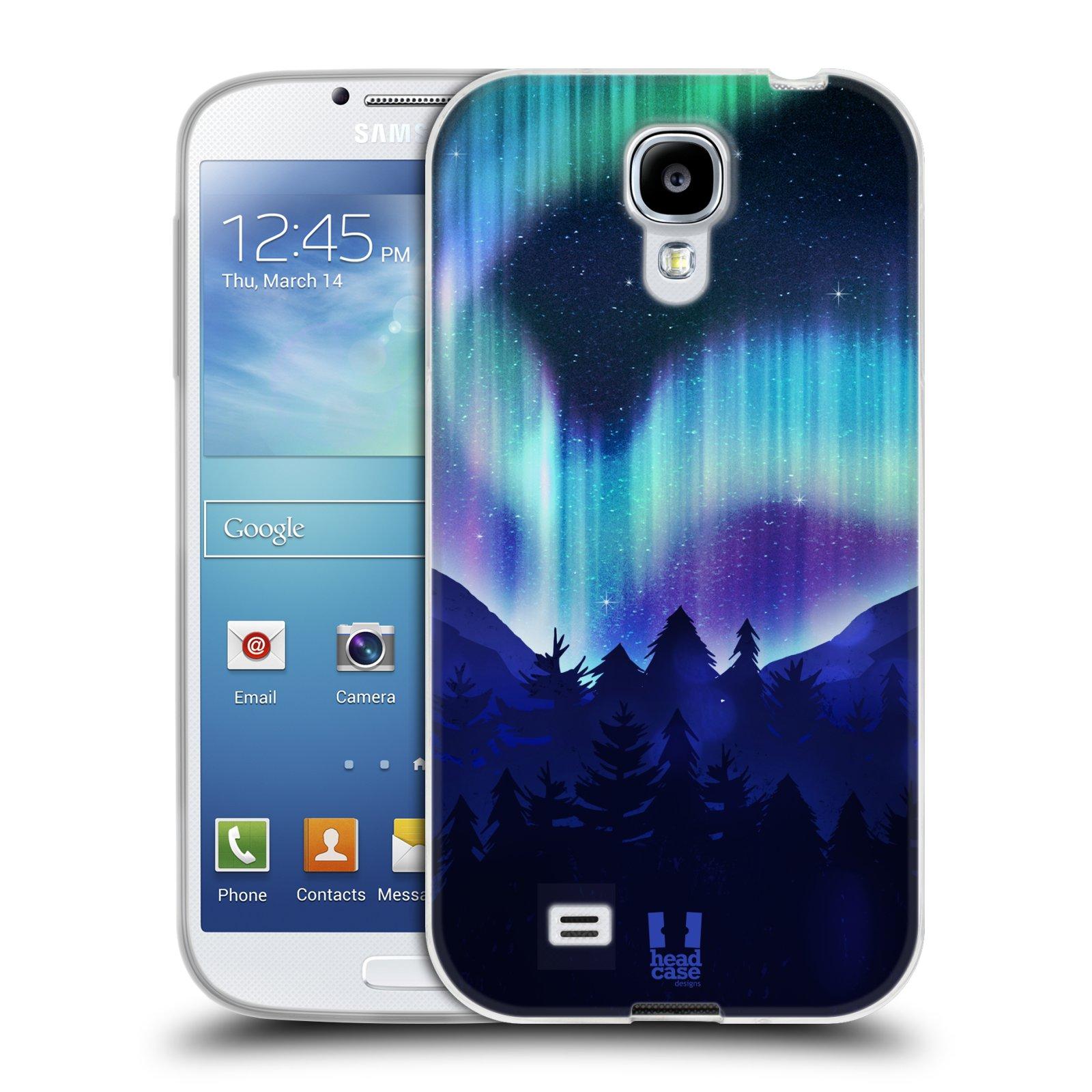 Silikonové pouzdro na mobil Samsung Galaxy S4 HEAD CASE Polární Záře Borovice (Silikonový kryt či obal na mobilní telefon Samsung Galaxy S4 GT-i9505 / i9500)