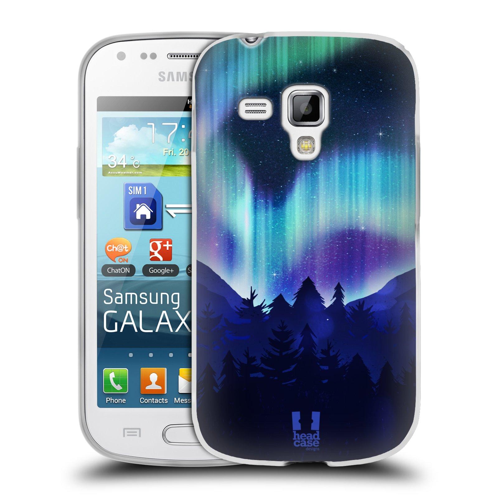 Silikonové pouzdro na mobil Samsung Galaxy Trend Plus HEAD CASE Polární Záře Borovice (Silikonový kryt či obal na mobilní telefon Samsung Galaxy Trend Plus GT-S7580)