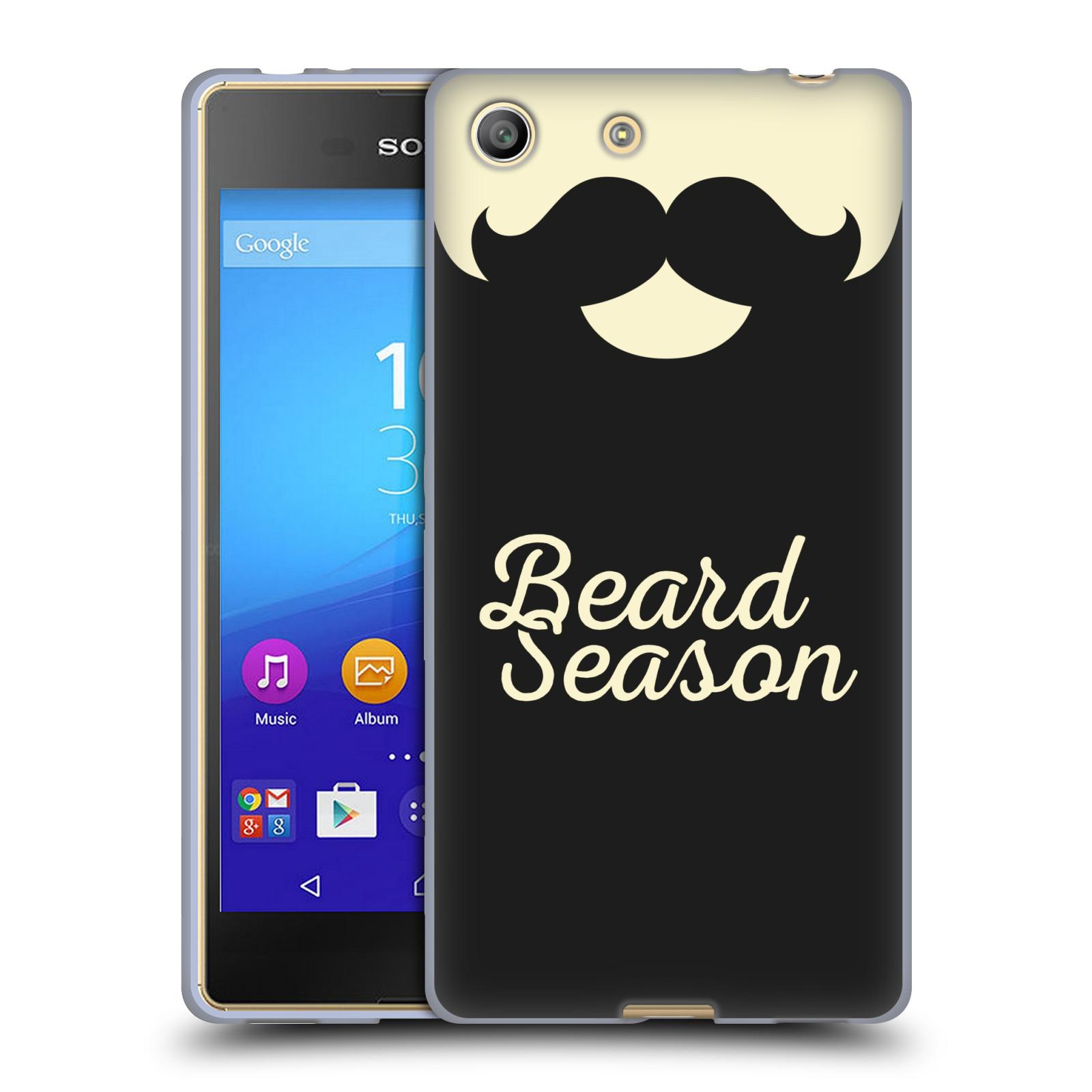 Silikonové pouzdro na mobil Sony Xperia M5 HEAD CASE KNÍR BEARD SEASON (Silikonový kryt či obal na mobilní telefon Sony Xperia M5 Dual SIM / Aqua)