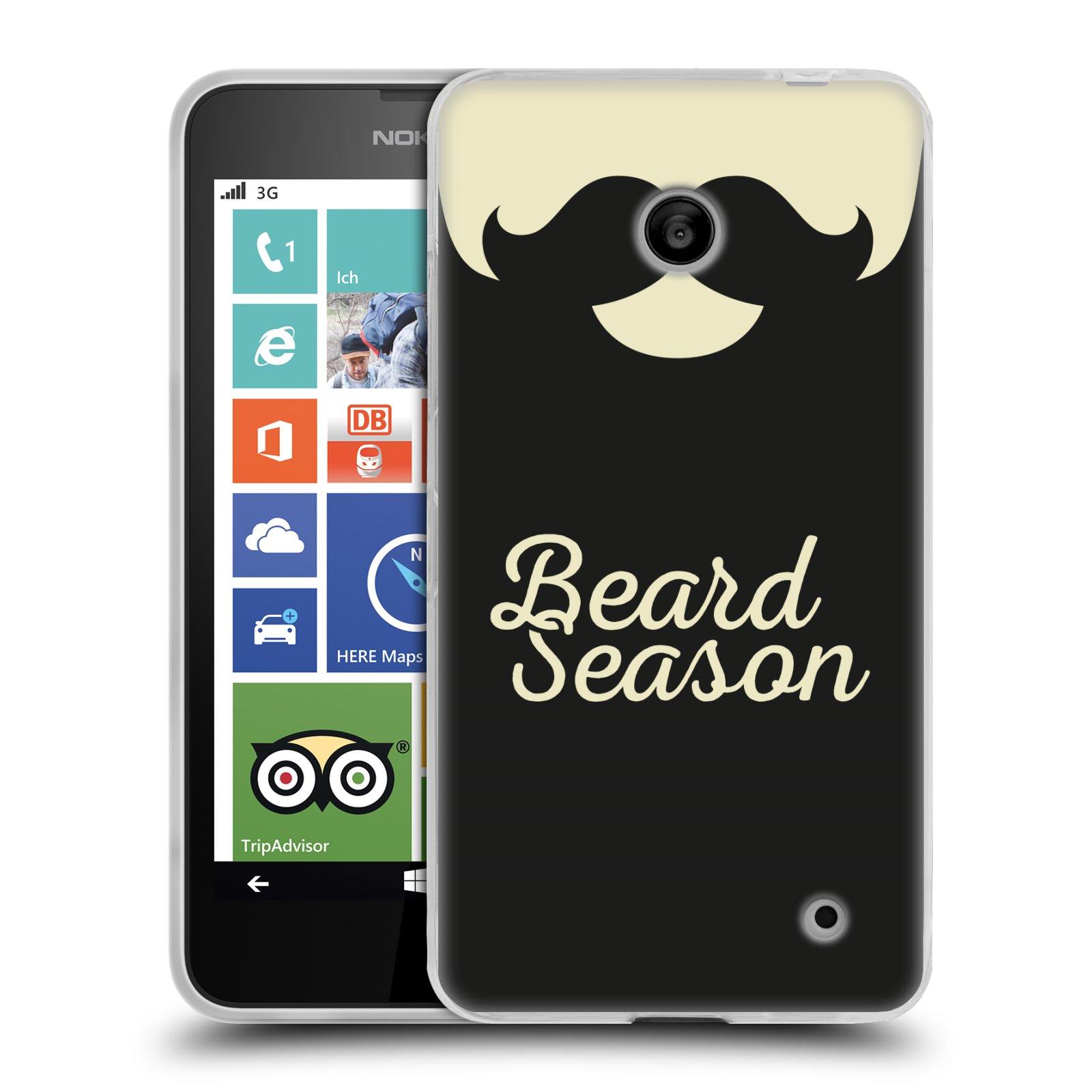 Silikonové pouzdro na mobil Nokia Lumia 630 HEAD CASE KNÍR BEARD SEASON (Silikonový kryt či obal na mobilní telefon Nokia Lumia 630 a Nokia Lumia 630 Dual SIM)