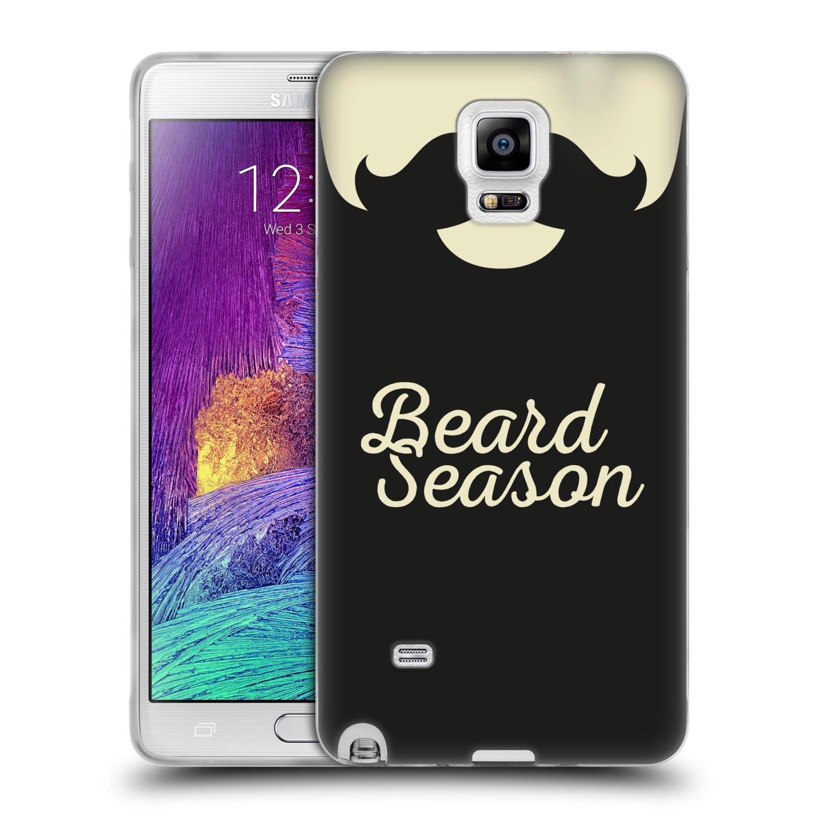 Silikonové pouzdro na mobil Samsung Galaxy Note 4 HEAD CASE KNÍR BEARD SEASON (Silikonový kryt či obal na mobilní telefon Samsung Galaxy Note 4 SM-N910F)