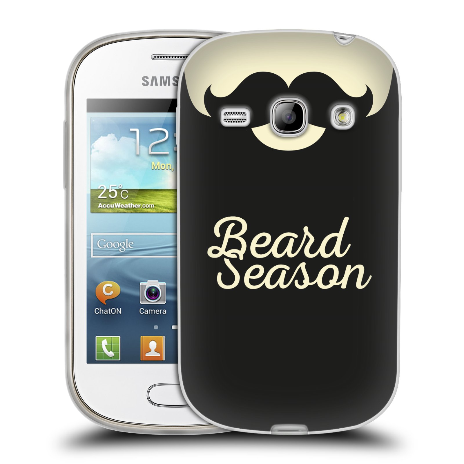 Silikonové pouzdro na mobil Samsung Galaxy Fame HEAD CASE KNÍR BEARD SEASON (Silikonový kryt či obal na mobilní telefon Samsung Galaxy Fame GT-S6810)