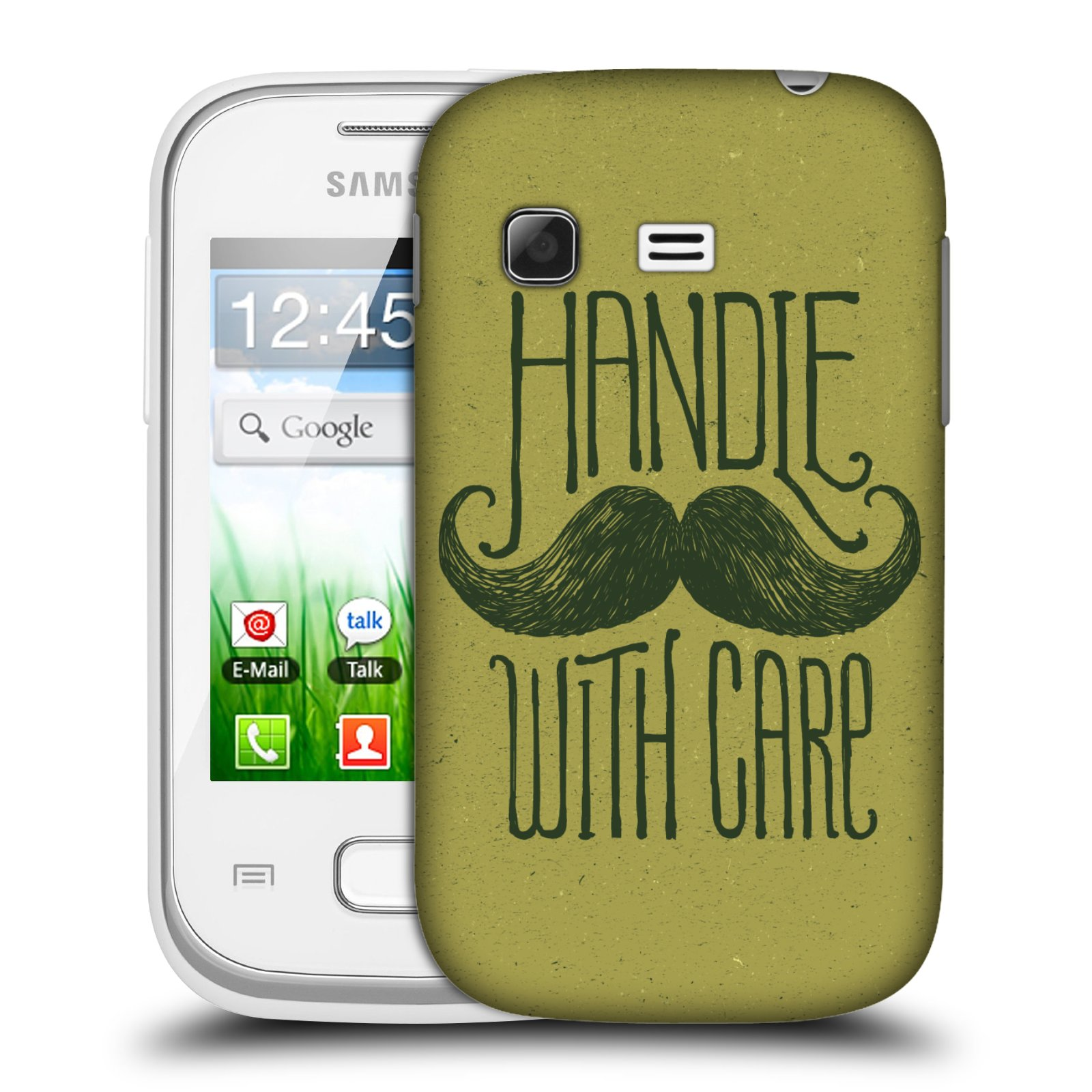 Plastové pouzdro na mobil Samsung Galaxy Pocket HEAD CASE KNÍR HANDLE WITH CARE (Plastový kryt či obal na mobilní telefon Samsung Galaxy Pocket GT-S5300)