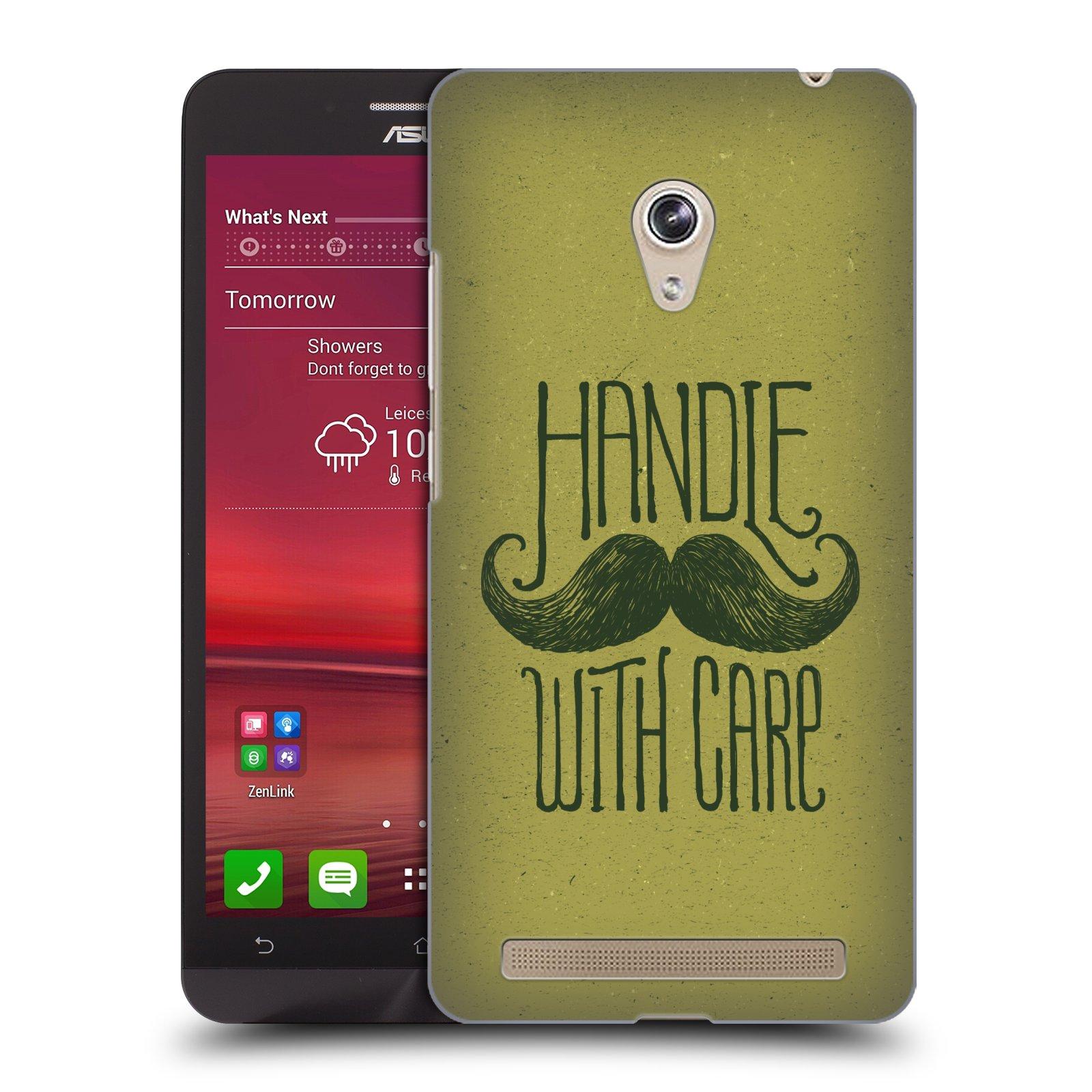Plastové pouzdro na mobil Asus Zenfone 6 HEAD CASE KNÍR HANDLE WITH CARE (Plastový kryt či obal na mobilní telefon Asus Zenfone 6 A600CG / A601CG)