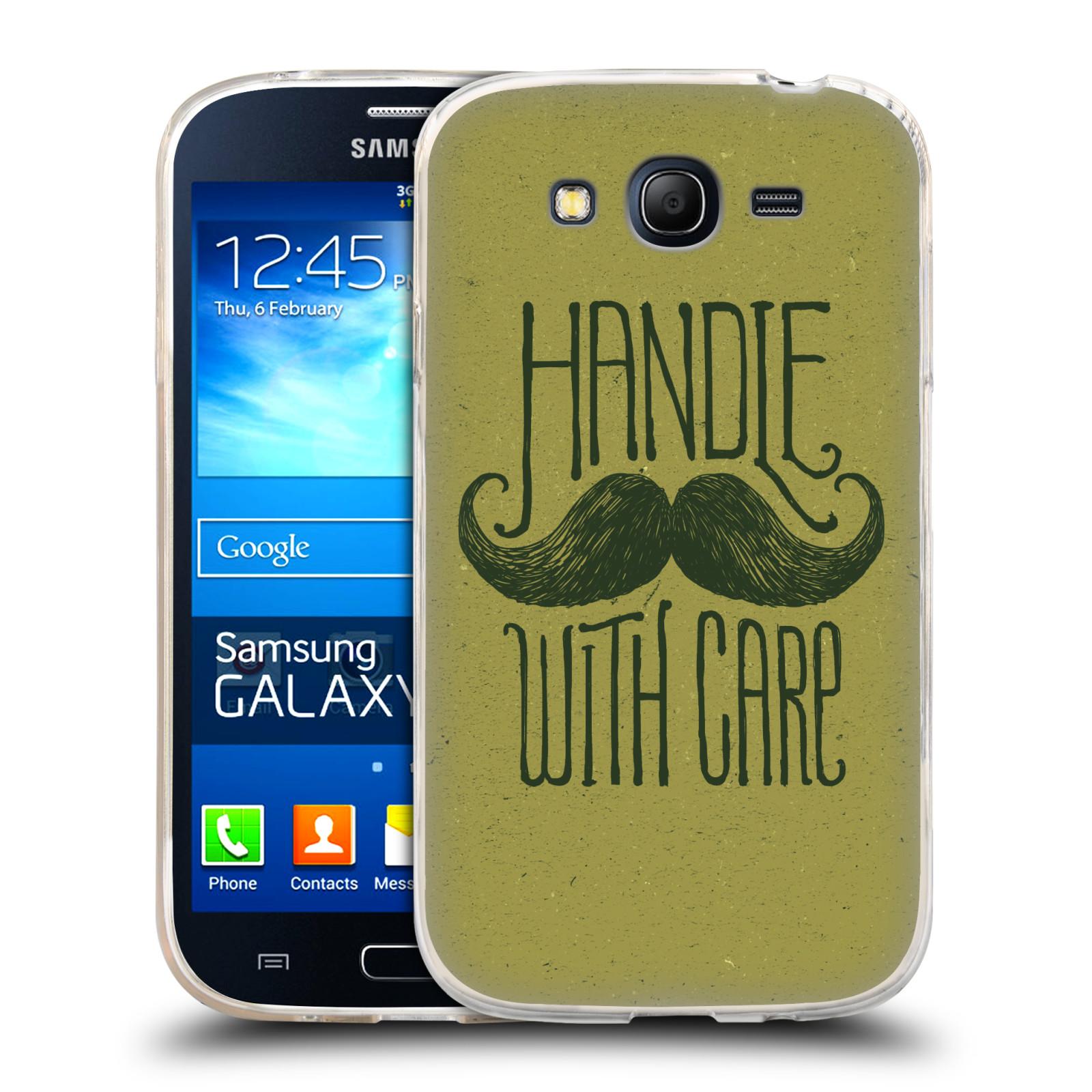 Silikonové pouzdro na mobil Samsung Galaxy Grand Neo HEAD CASE KNÍR HANDLE WITH CARE (Silikonový kryt či obal na mobilní telefon Samsung Galaxy Grand Neo GT-I9060)