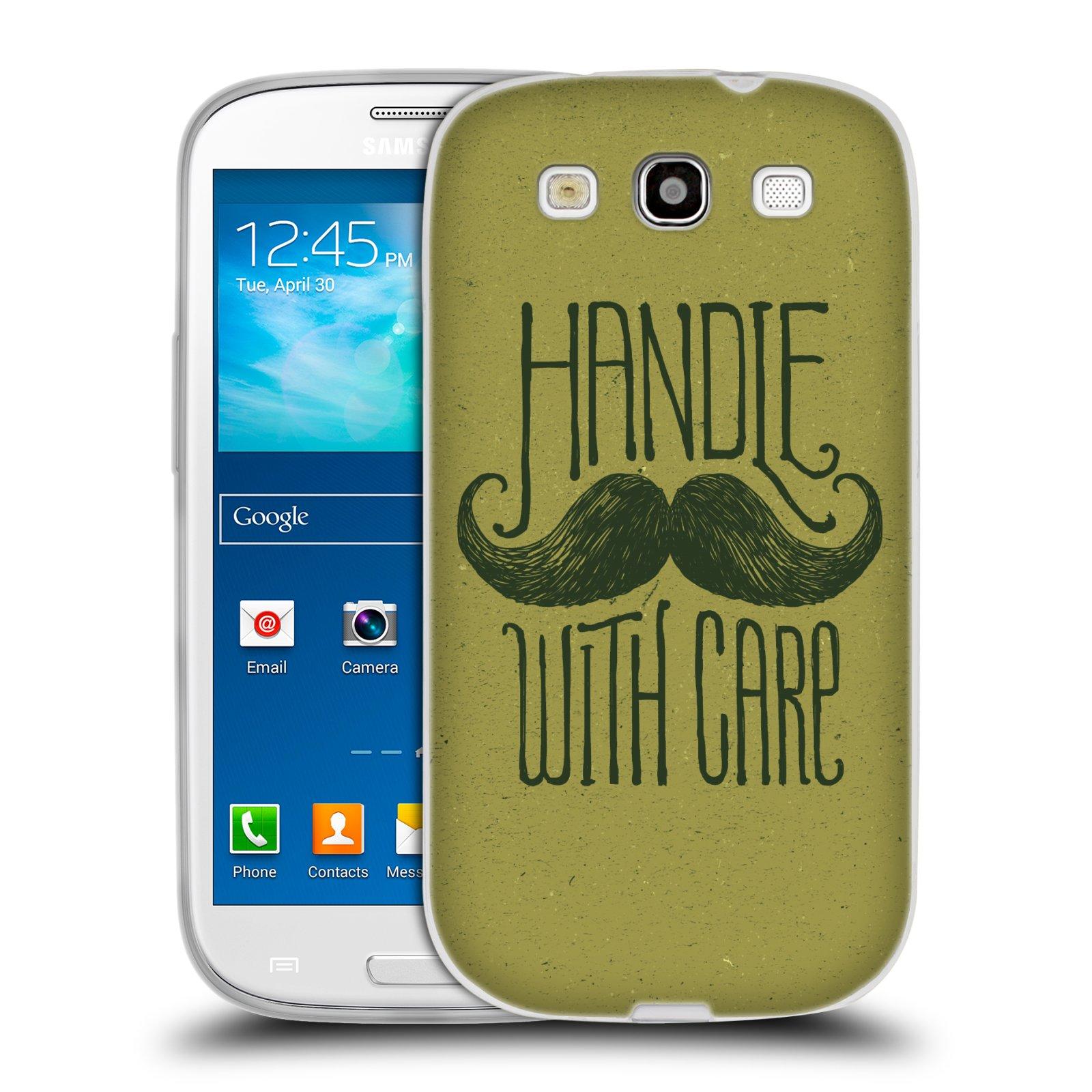 Silikonové pouzdro na mobil Samsung Galaxy S3 Neo HEAD CASE KNÍR HANDLE WITH CARE (Silikonový kryt či obal na mobilní telefon Samsung Galaxy S3 Neo GT-i9301i)
