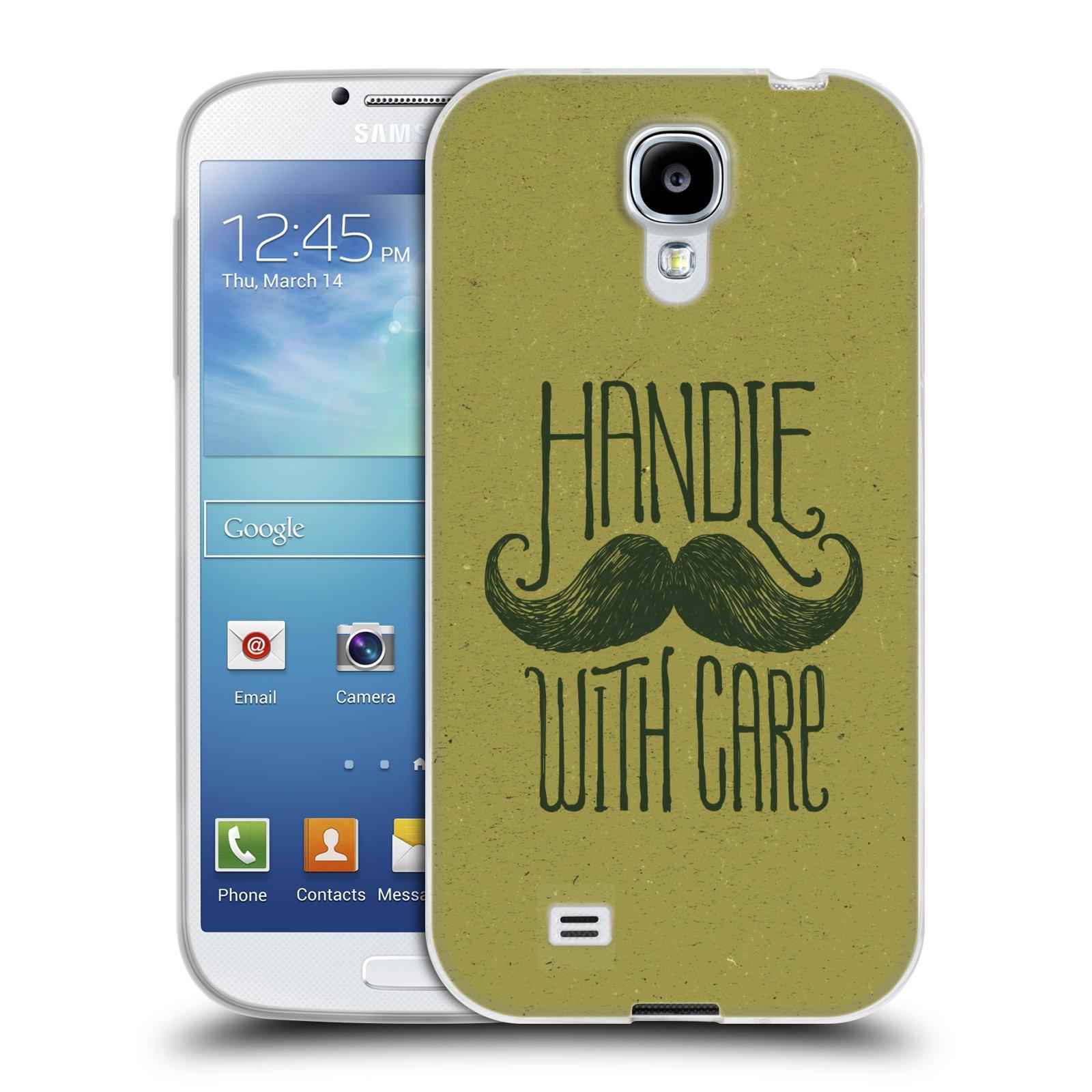 Silikonové pouzdro na mobil Samsung Galaxy S4 HEAD CASE KNÍR HANDLE WITH CARE (Silikonový kryt či obal na mobilní telefon Samsung Galaxy S4 GT-i9505 / i9500)