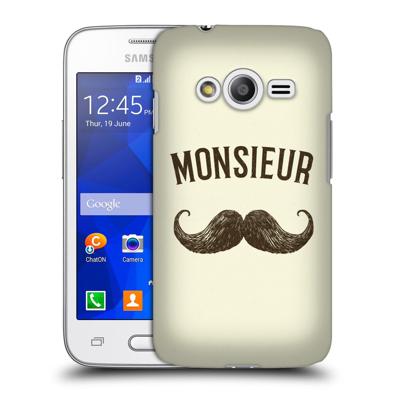 Plastové pouzdro na mobil Samsung Galaxy Trend 2 Lite HEAD CASE KNÍR MONSIEUR (Plastový kryt či obal na mobilní telefon Samsung Galaxy Trend 2 Lite SM-G318)