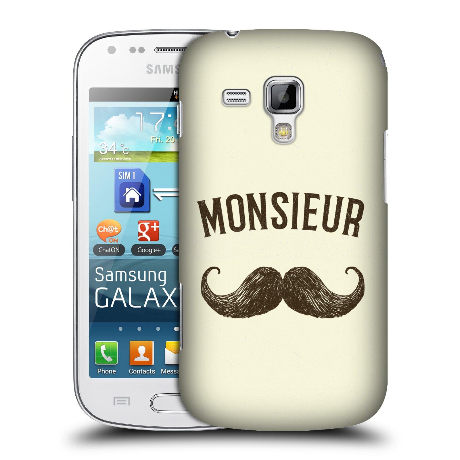 Plastové pouzdro na mobil Samsung Galaxy Trend Plus HEAD CASE KNÍR MONSIEUR (Plastový kryt či obal na mobilní telefon Samsung Galaxy Trend Plus GT-S7580)