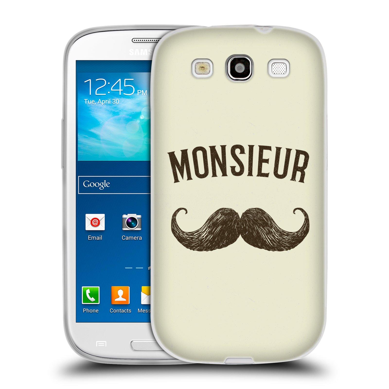 Silikonové pouzdro na mobil Samsung Galaxy S3 Neo HEAD CASE KNÍR MONSIEUR (Silikonový kryt či obal na mobilní telefon Samsung Galaxy S3 Neo GT-i9301i)