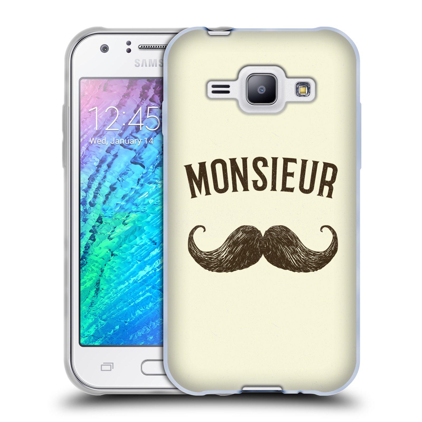 Silikonové pouzdro na mobil Samsung Galaxy J1 HEAD CASE KNÍR MONSIEUR (Silikonový kryt či obal na mobilní telefon Samsung Galaxy J1 a J1 Duos)