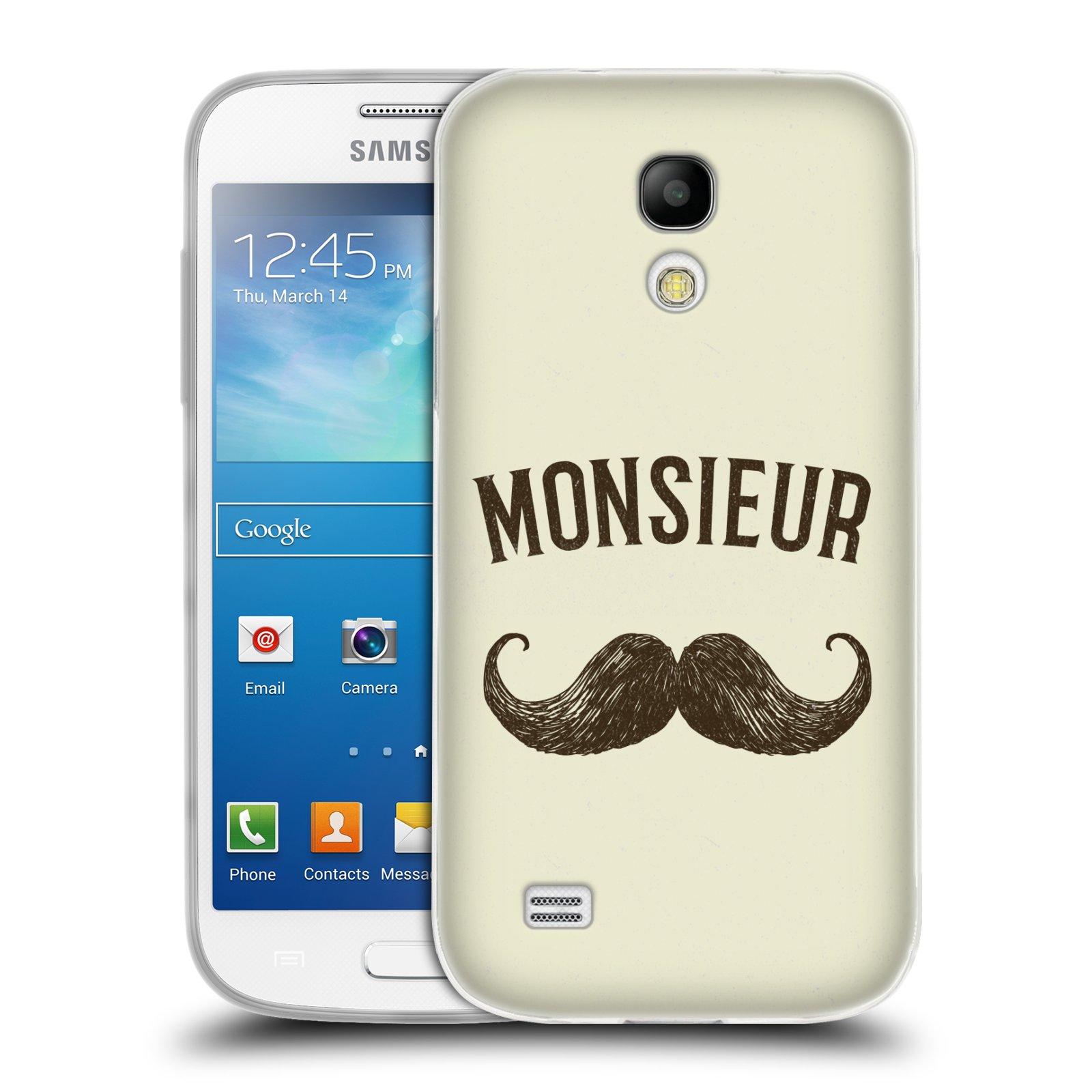 Silikonové pouzdro na mobil Samsung Galaxy S4 Mini HEAD CASE KNÍR MONSIEUR (Silikonový kryt či obal na mobilní telefon Samsung Galaxy S4 Mini GT-i9195 / i9190)