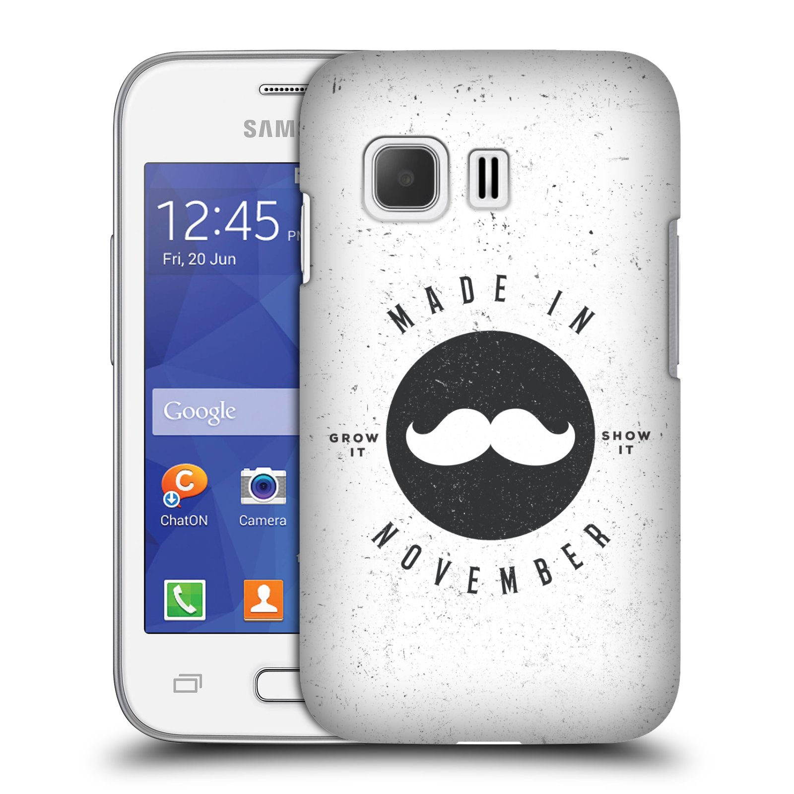 Plastové pouzdro na mobil Samsung Galaxy Young 2 HEAD CASE KNÍR MADE IN NOVEMBER (Plastový kryt či obal na mobilní telefon Samsung Galaxy Young 2 SM-G130)