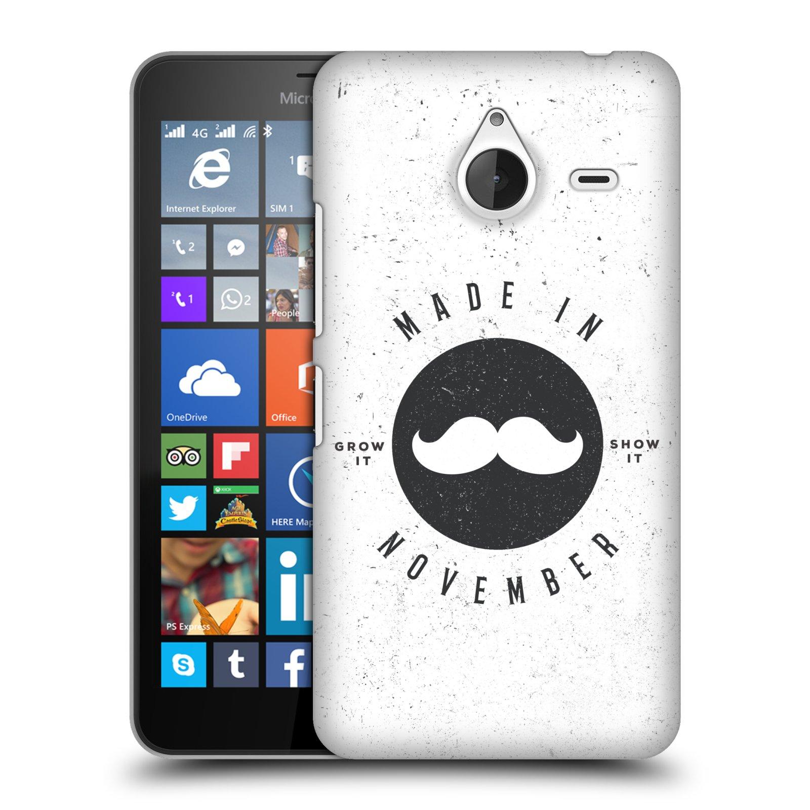 Plastové pouzdro na mobil Microsoft Lumia 640 XL HEAD CASE KNÍR MADE IN NOVEMBER (Plastový kryt či obal na mobilní telefon Microsoft Lumia 640 XL)