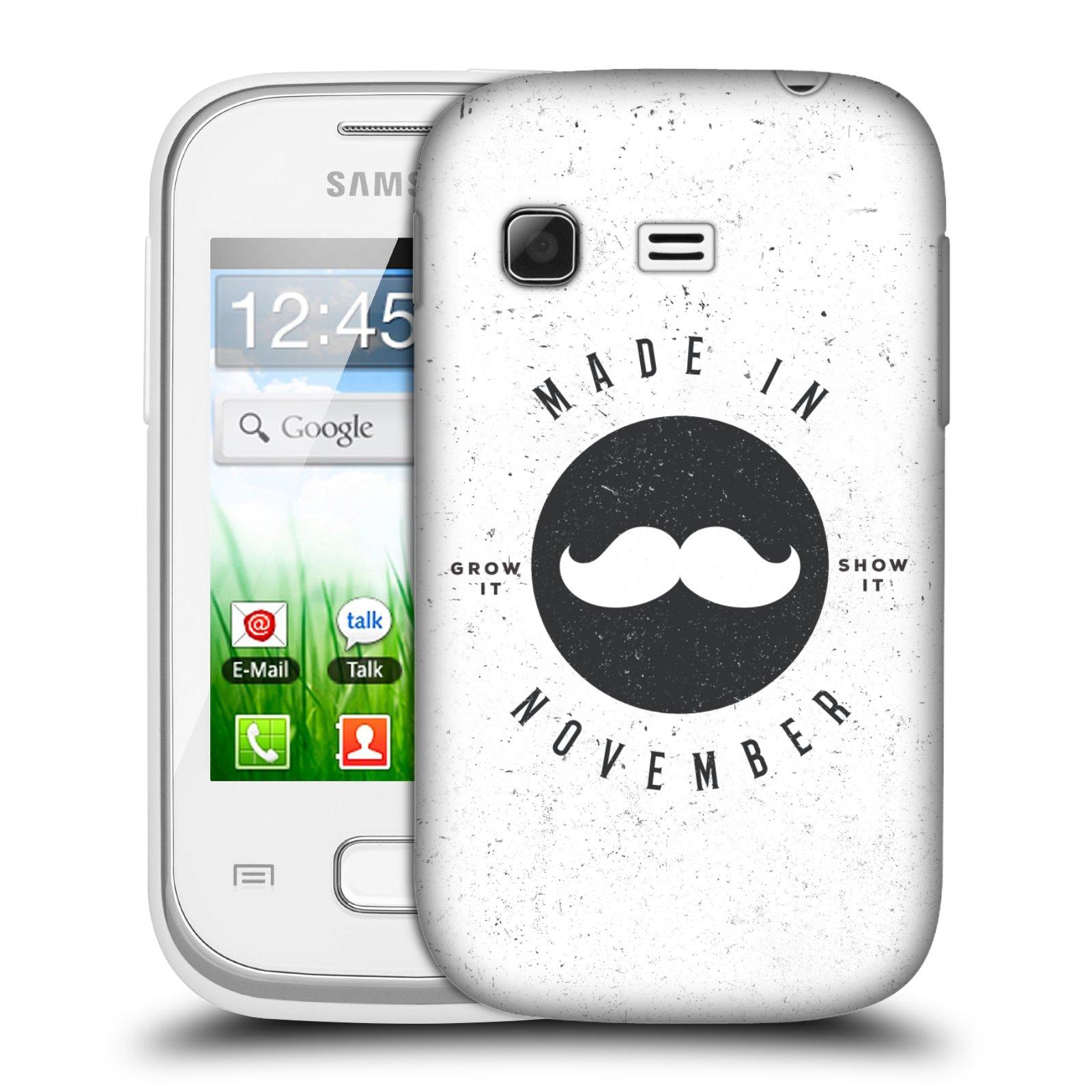 Plastové pouzdro na mobil Samsung Galaxy Pocket HEAD CASE KNÍR MADE IN NOVEMBER (Plastový kryt či obal na mobilní telefon Samsung Galaxy Pocket GT-S5300)