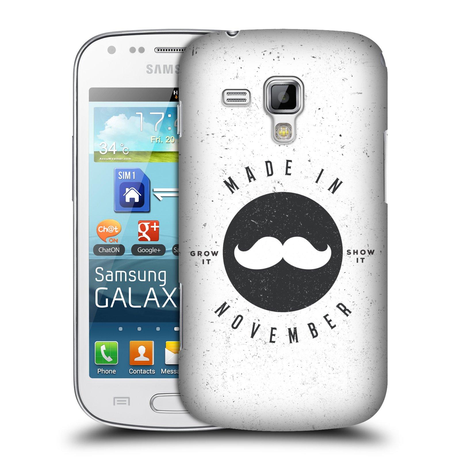Plastové pouzdro na mobil Samsung Galaxy Trend Plus HEAD CASE KNÍR MADE IN NOVEMBER (Plastový kryt či obal na mobilní telefon Samsung Galaxy Trend Plus GT-S7580)