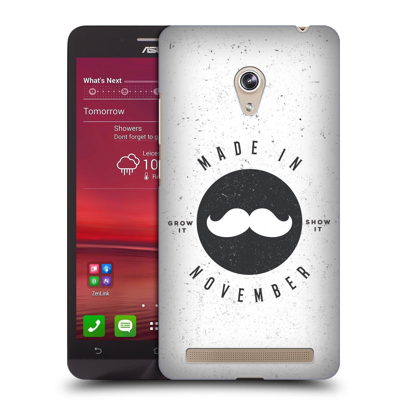 Plastové pouzdro na mobil Asus Zenfone 6 HEAD CASE KNÍR MADE IN NOVEMBER (Plastový kryt či obal na mobilní telefon Asus Zenfone 6 A600CG / A601CG)