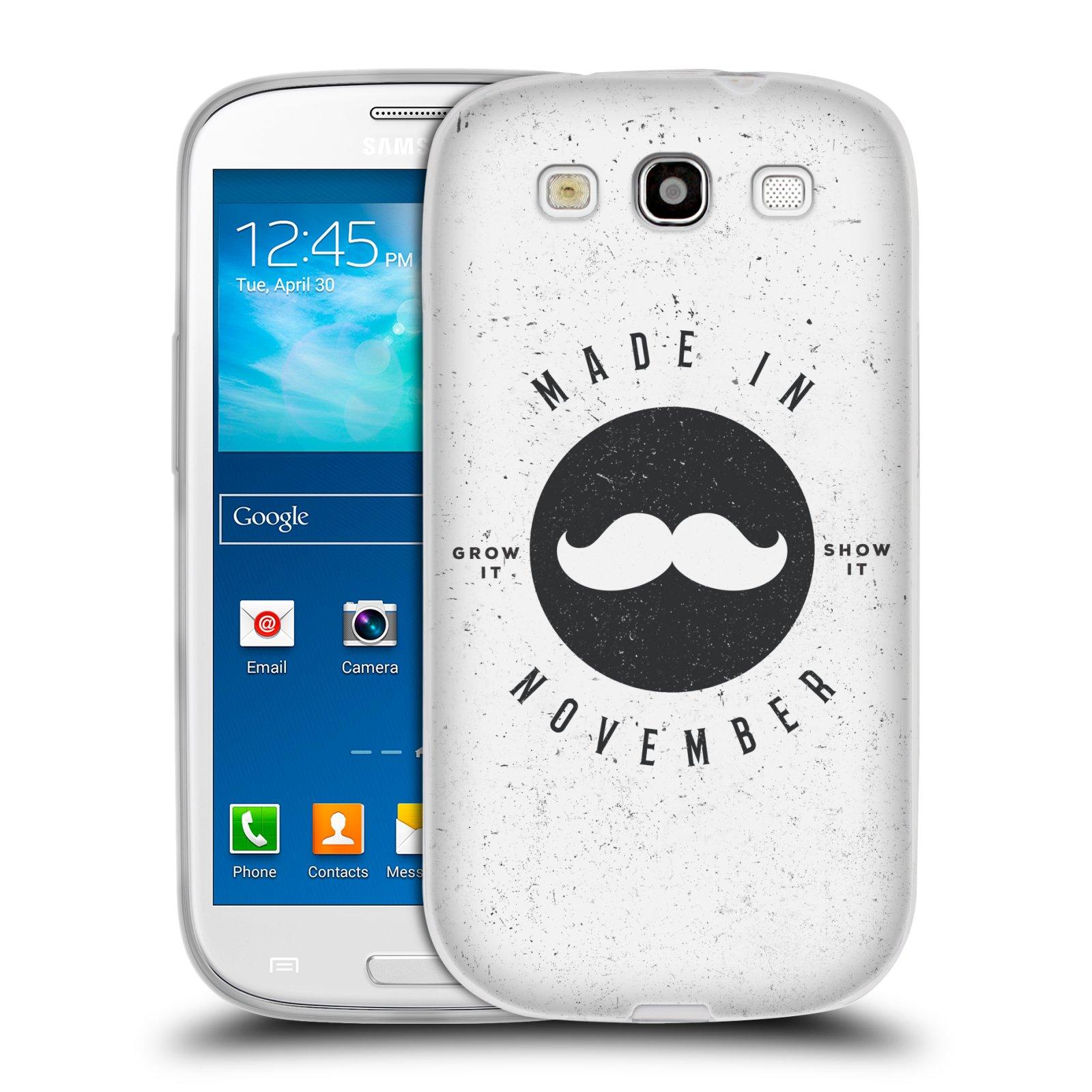 Silikonové pouzdro na mobil Samsung Galaxy S3 Neo HEAD CASE KNÍR MADE IN NOVEMBER (Silikonový kryt či obal na mobilní telefon Samsung Galaxy S3 Neo GT-i9301i)