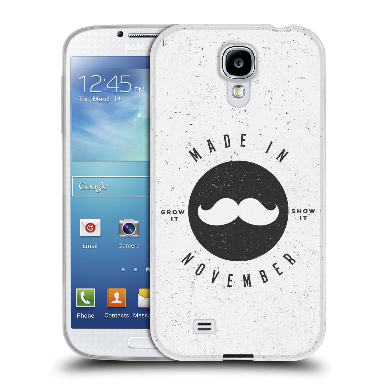 Silikonové pouzdro na mobil Samsung Galaxy S4 HEAD CASE KNÍR MADE IN NOVEMBER (Silikonový kryt či obal na mobilní telefon Samsung Galaxy S4 GT-i9505 / i9500)