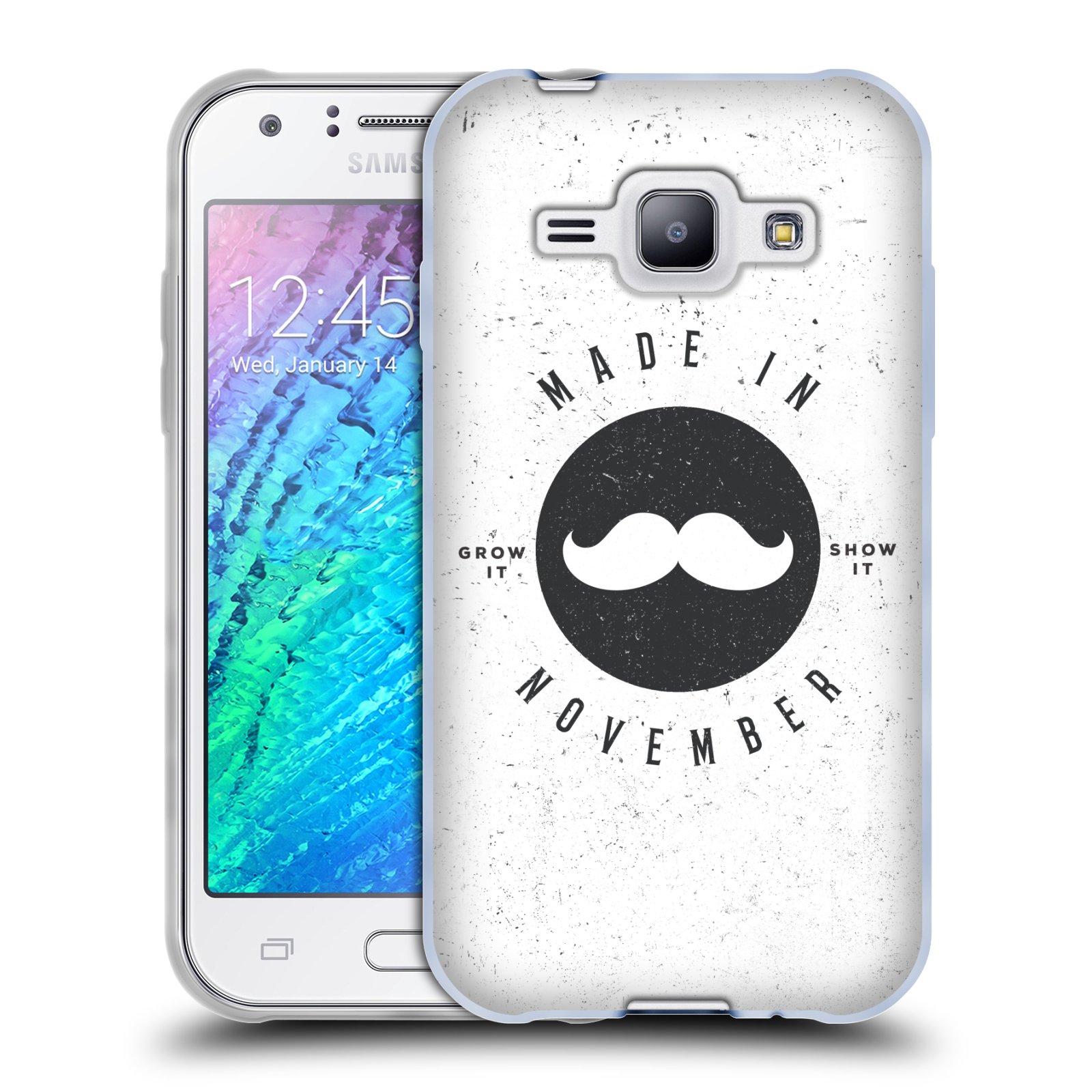 Silikonové pouzdro na mobil Samsung Galaxy J1 HEAD CASE KNÍR MADE IN NOVEMBER (Silikonový kryt či obal na mobilní telefon Samsung Galaxy J1 a J1 Duos)