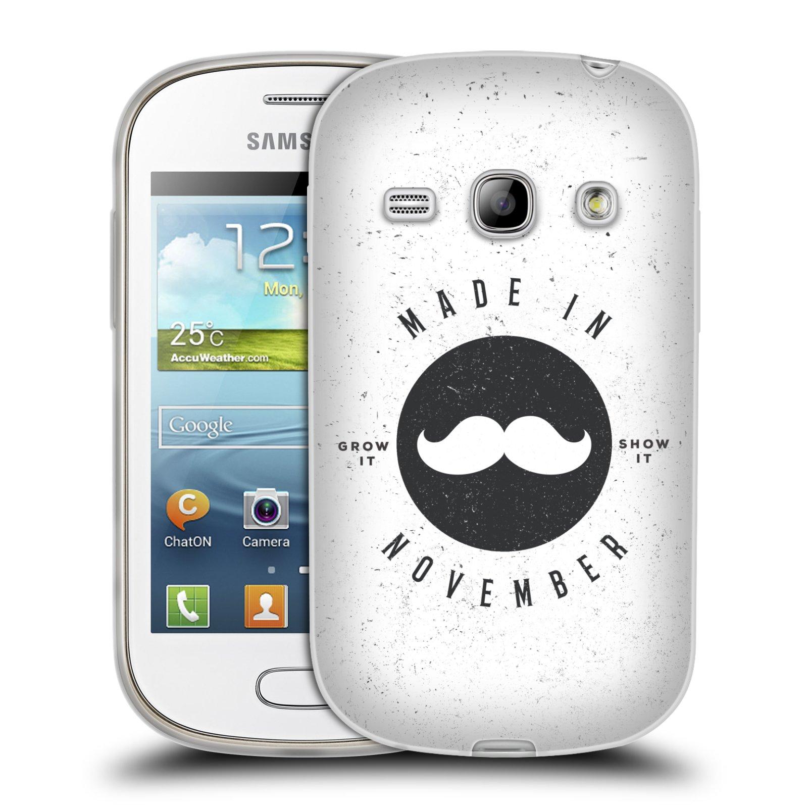 Silikonové pouzdro na mobil Samsung Galaxy Fame HEAD CASE KNÍR MADE IN NOVEMBER (Silikonový kryt či obal na mobilní telefon Samsung Galaxy Fame GT-S6810)