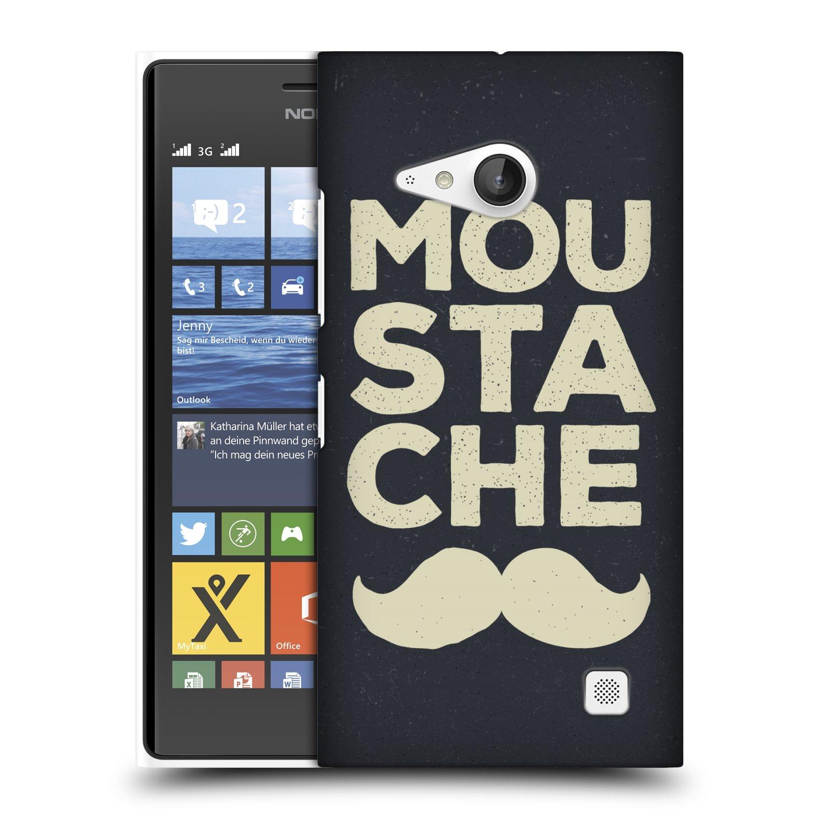 Plastové pouzdro na mobil Nokia Lumia 730 Dual SIM HEAD CASE KNÍR MOU STA CHE (Plastový kryt či obal na mobilní telefon Nokia Lumia 730 Dual SIM)