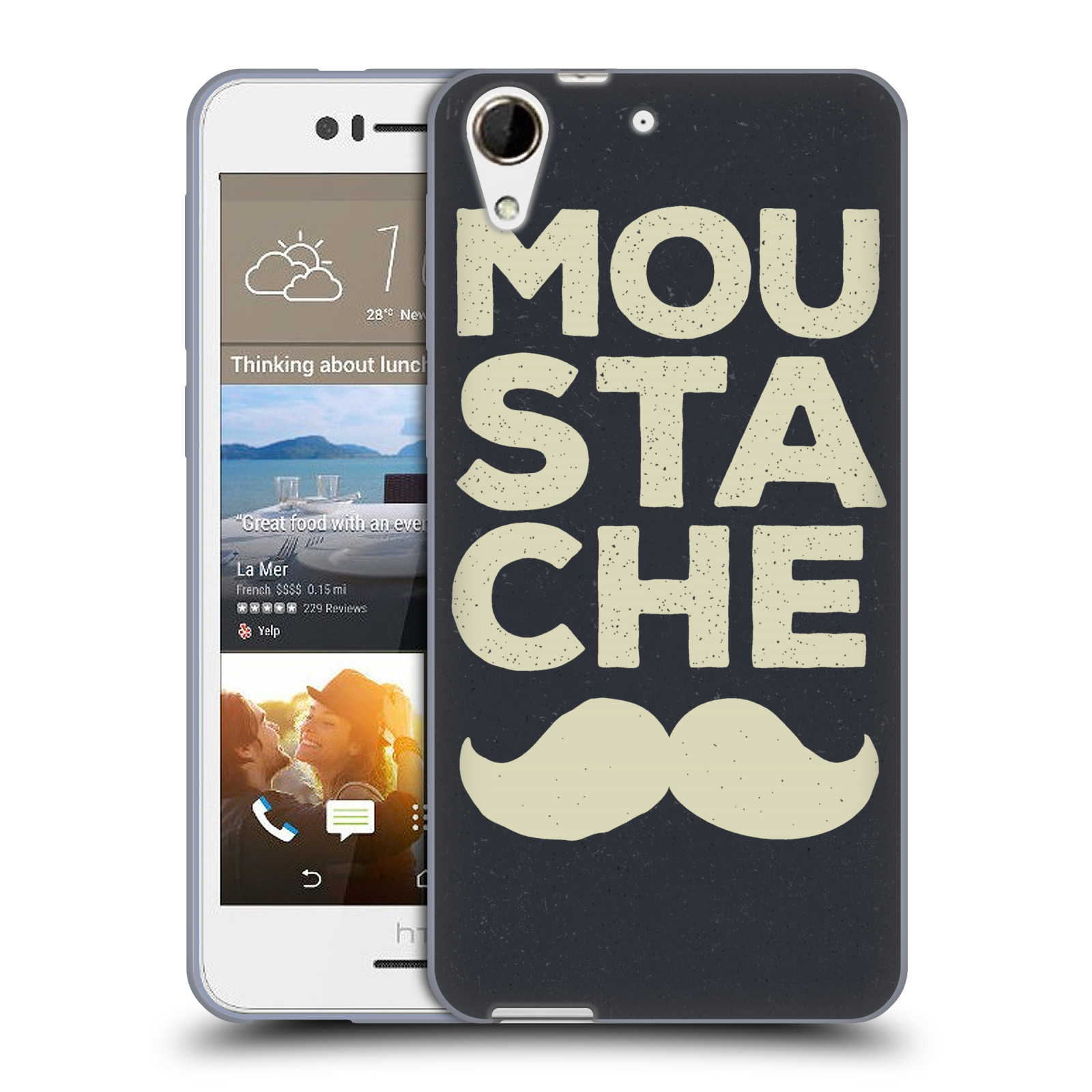 Silikonové pouzdro na mobil HTC Desire 728G Dual SIM HEAD CASE KNÍR MOU STA CHE (Silikonový kryt či obal na mobilní telefon HTC Desire 728 G Dual SIM)