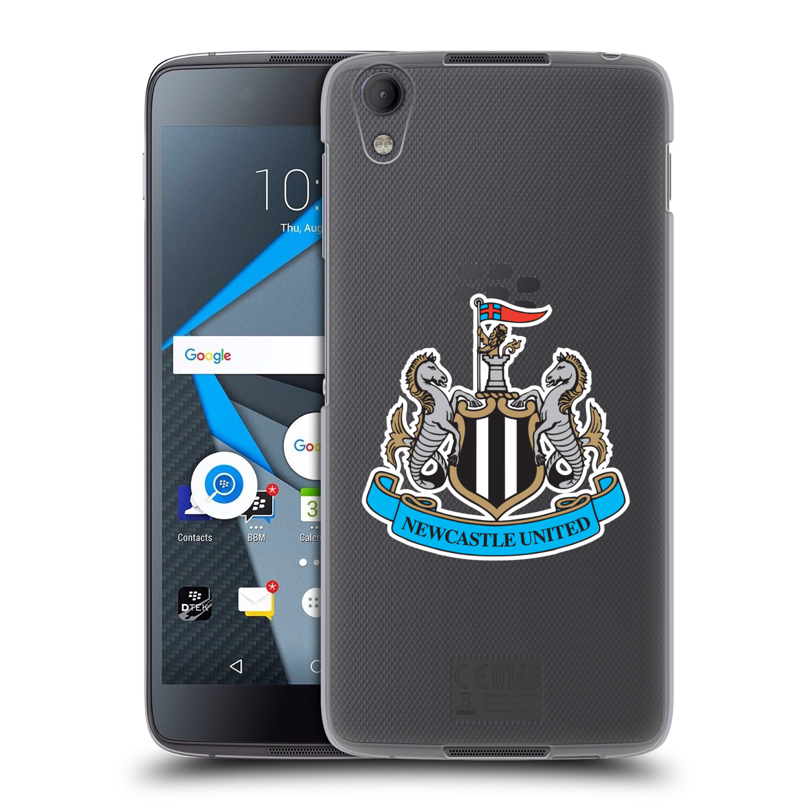 Plastové pouzdro na mobil Blackberry DTEK50 (Neon) - Head Case Newcastle United FC - Čiré