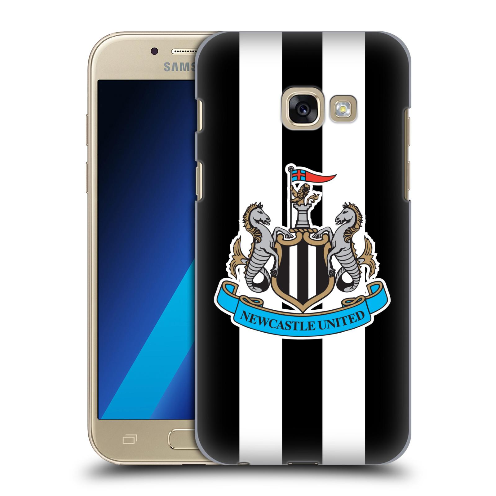 Plastové pouzdro na mobil Samsung Galaxy A3 (2017) HEAD CASE Newcastle United FC - Pruhy