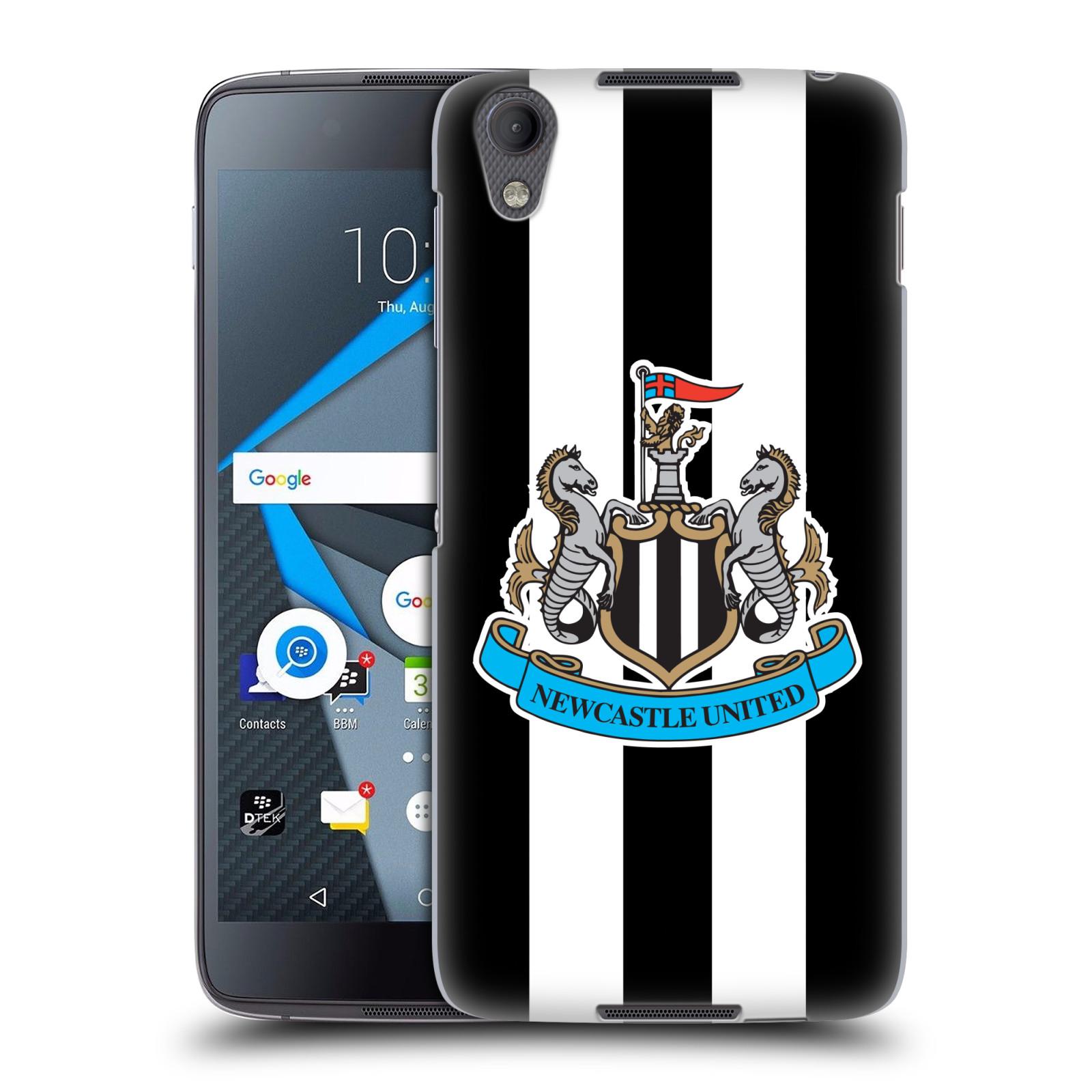 Plastové pouzdro na mobil Blackberry DTEK50 (Neon) - Head Case Newcastle United FC - Pruhy