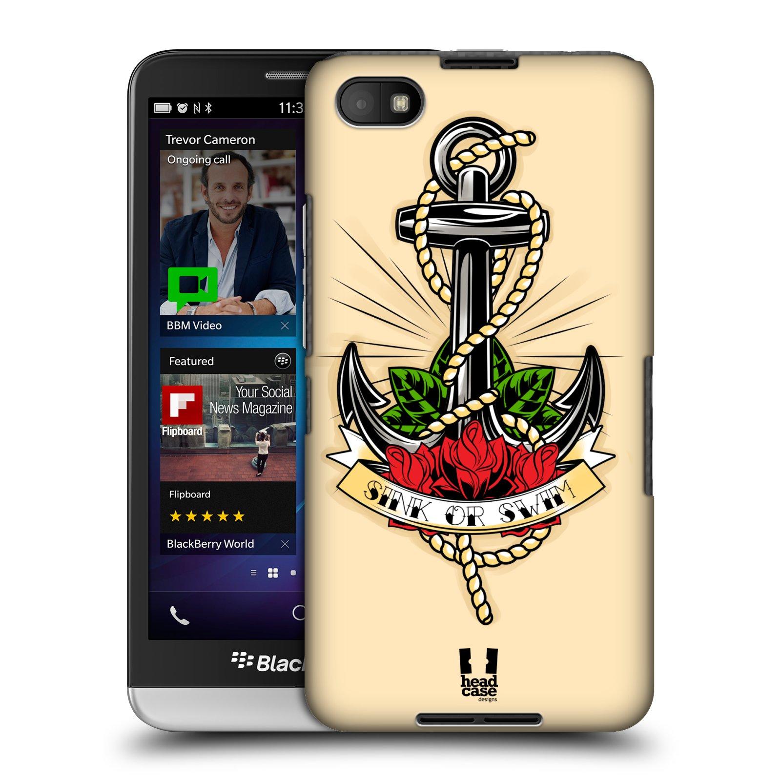 Plastové pouzdro na mobil Blackberry Z30 HEAD CASE Tetování kotva (Kryt či obal na mobilní telefon Blackberry Z30)