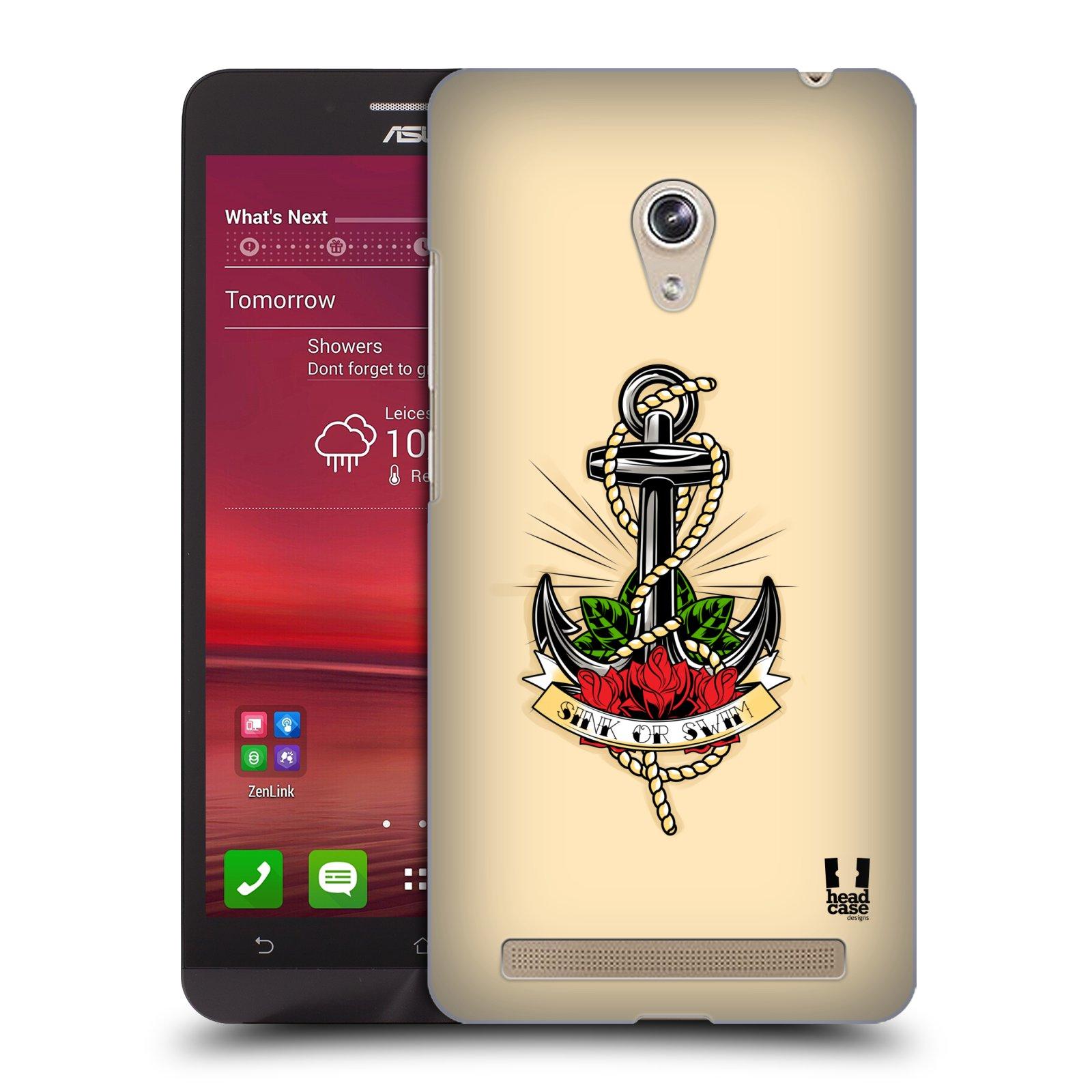 Plastové pouzdro na mobil Asus Zenfone 6 HEAD CASE Tetování kotva (Kryt či obal na mobilní telefon Asus Zenfone 6 A600CG / A601CG)