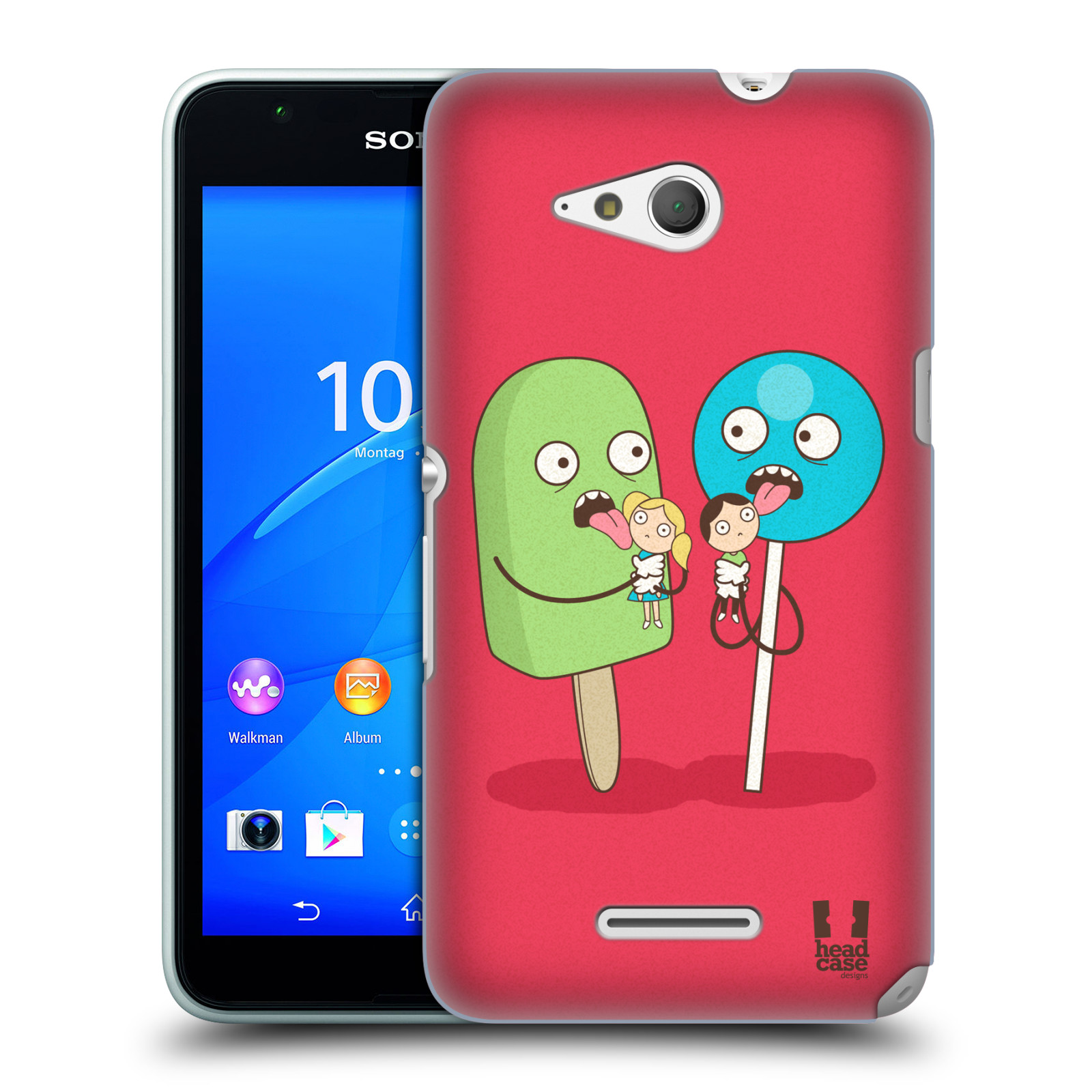 Plastové pouzdro na mobil Sony Xperia E4g E2003 HEAD CASE DEN NARUBY LÍZÁTKA (Kryt či obal na mobilní telefon Sony Xperia E4g a E4g Dual SIM)