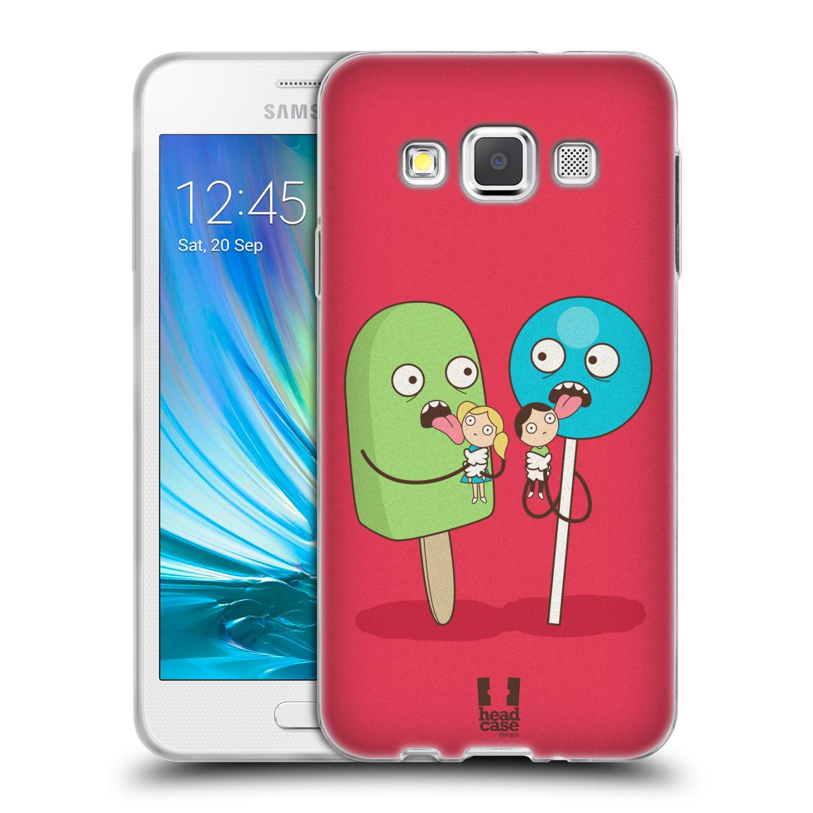 Silikonové pouzdro na mobil Samsung Galaxy A3 HEAD CASE DEN NARUBY LÍZÁTKA