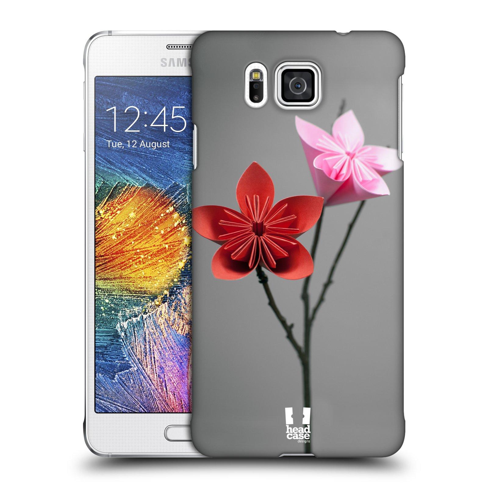 Plastové pouzdro na mobil Samsung Galaxy Alpha HEAD CASE KUSUDAMA (Kryt či obal na mobilní telefon Samsung Galaxy Alpha SM-G850)