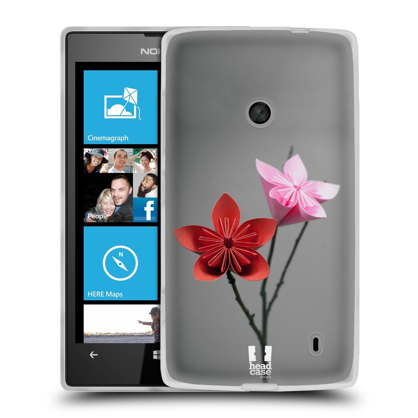 Silikonové pouzdro na mobil Nokia Lumia 520 HEAD CASE KUSUDAMA (Silikonový Kryt či obal na mobilní telefon Nokia Lumia 520)