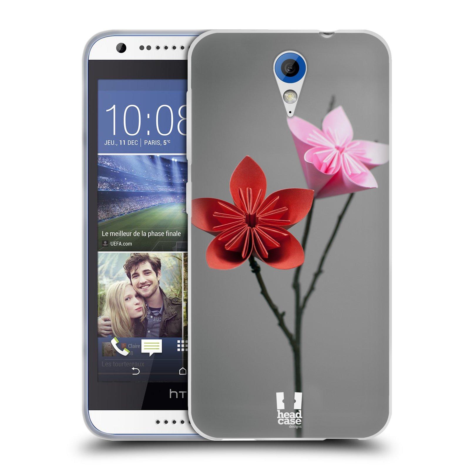 Silikonové pouzdro na mobil HTC Desire 620 HEAD CASE KUSUDAMA (Silikonový kryt či obal na mobilní telefon HTC Desire 620)