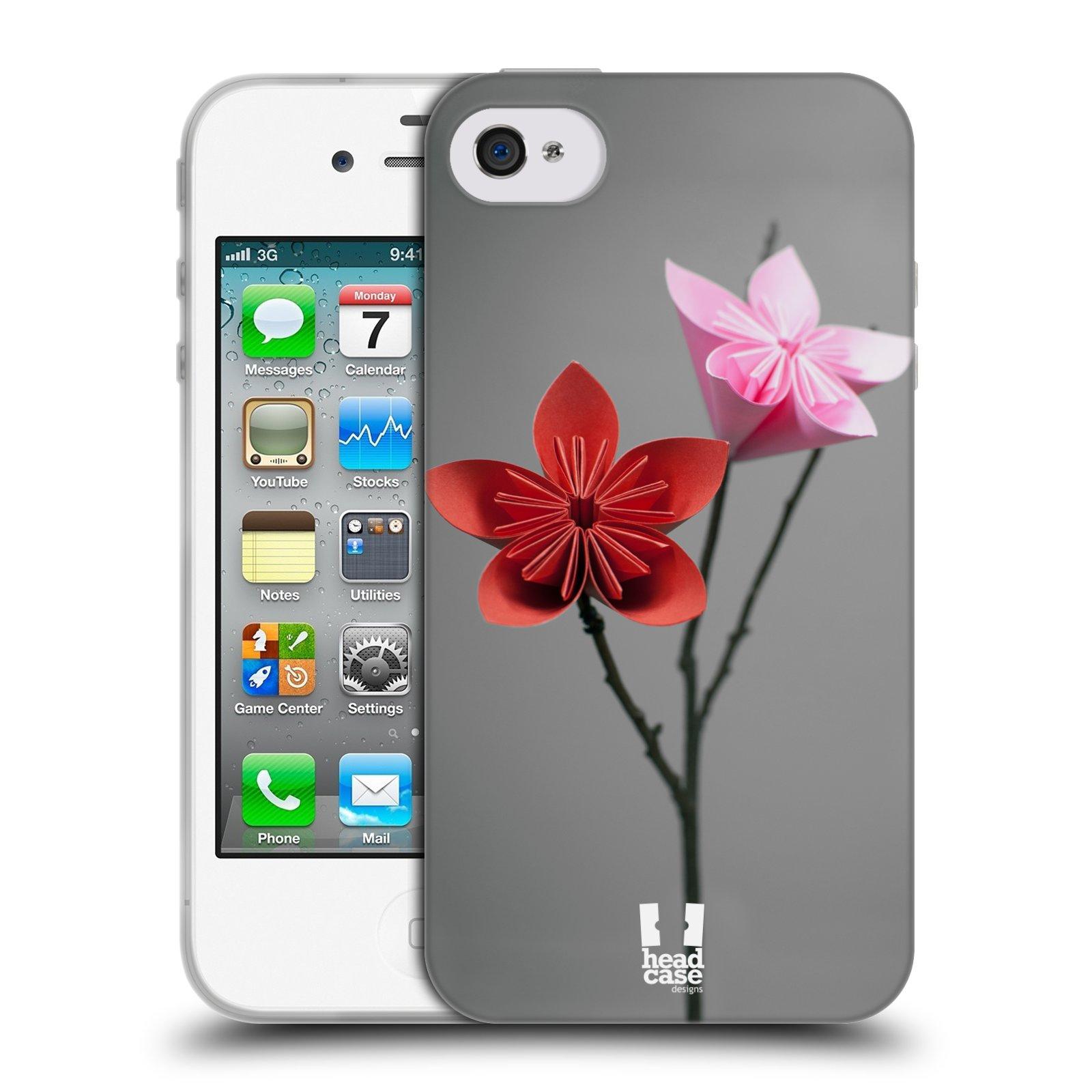 Silikonové pouzdro na mobil Apple iPhone 4 a 4S HEAD CASE KUSUDAMA (Silikonový kryt či obal na mobilní telefon Apple iPhone 4 a 4S)