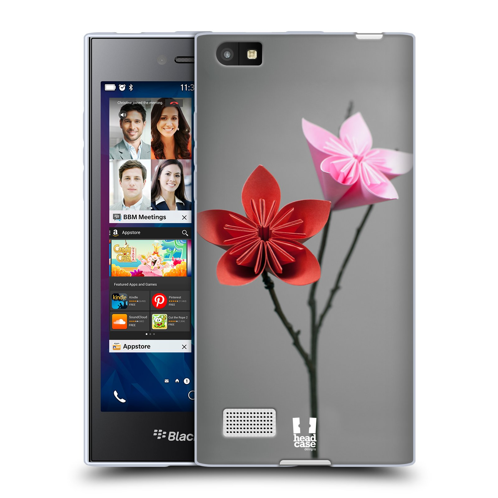 Silikonové pouzdro na mobil Blackberry Leap HEAD CASE KUSUDAMA