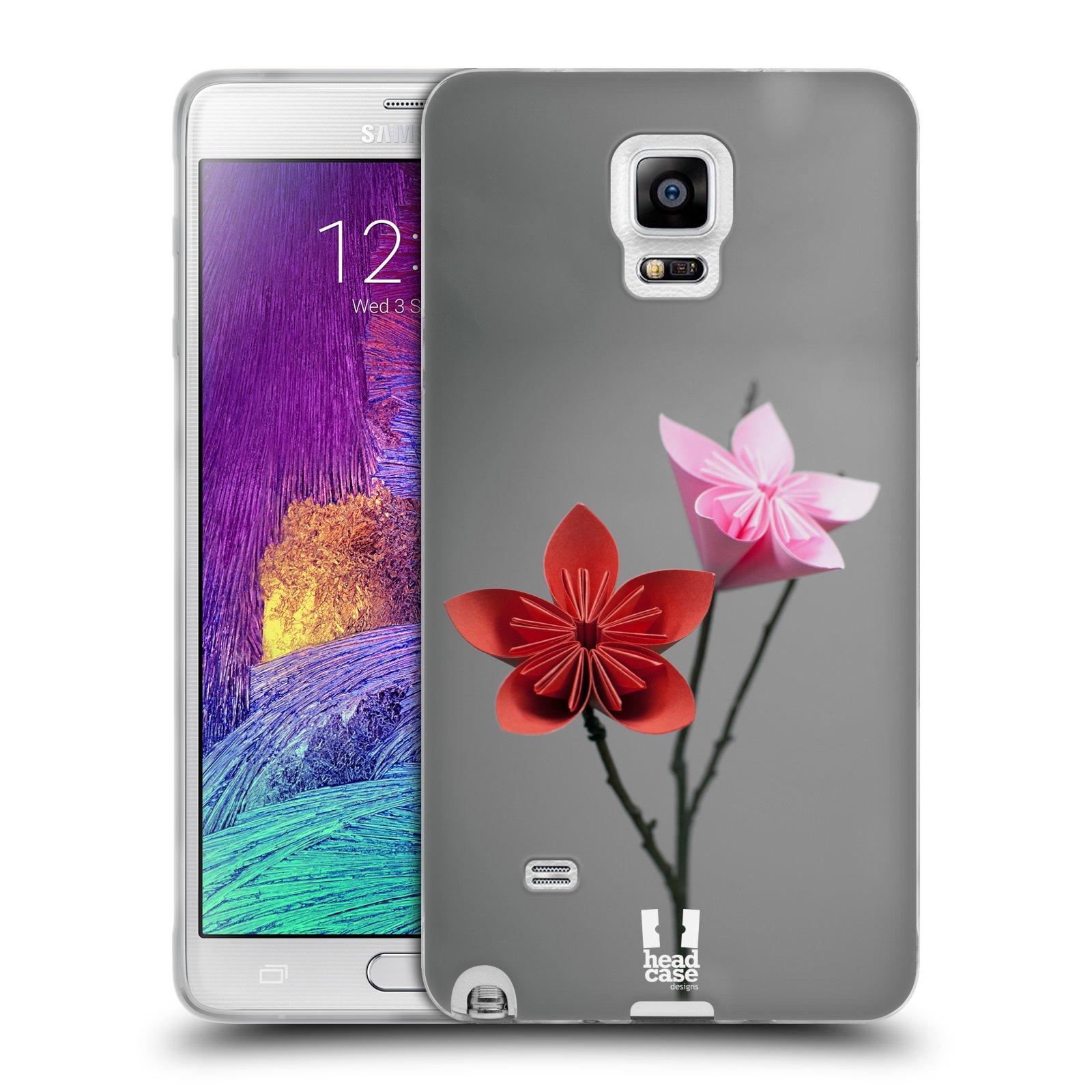 Silikonové pouzdro na mobil Samsung Galaxy Note 4 HEAD CASE KUSUDAMA (Silikonový kryt či obal na mobilní telefon Samsung Galaxy Note 4 SM-N910F)