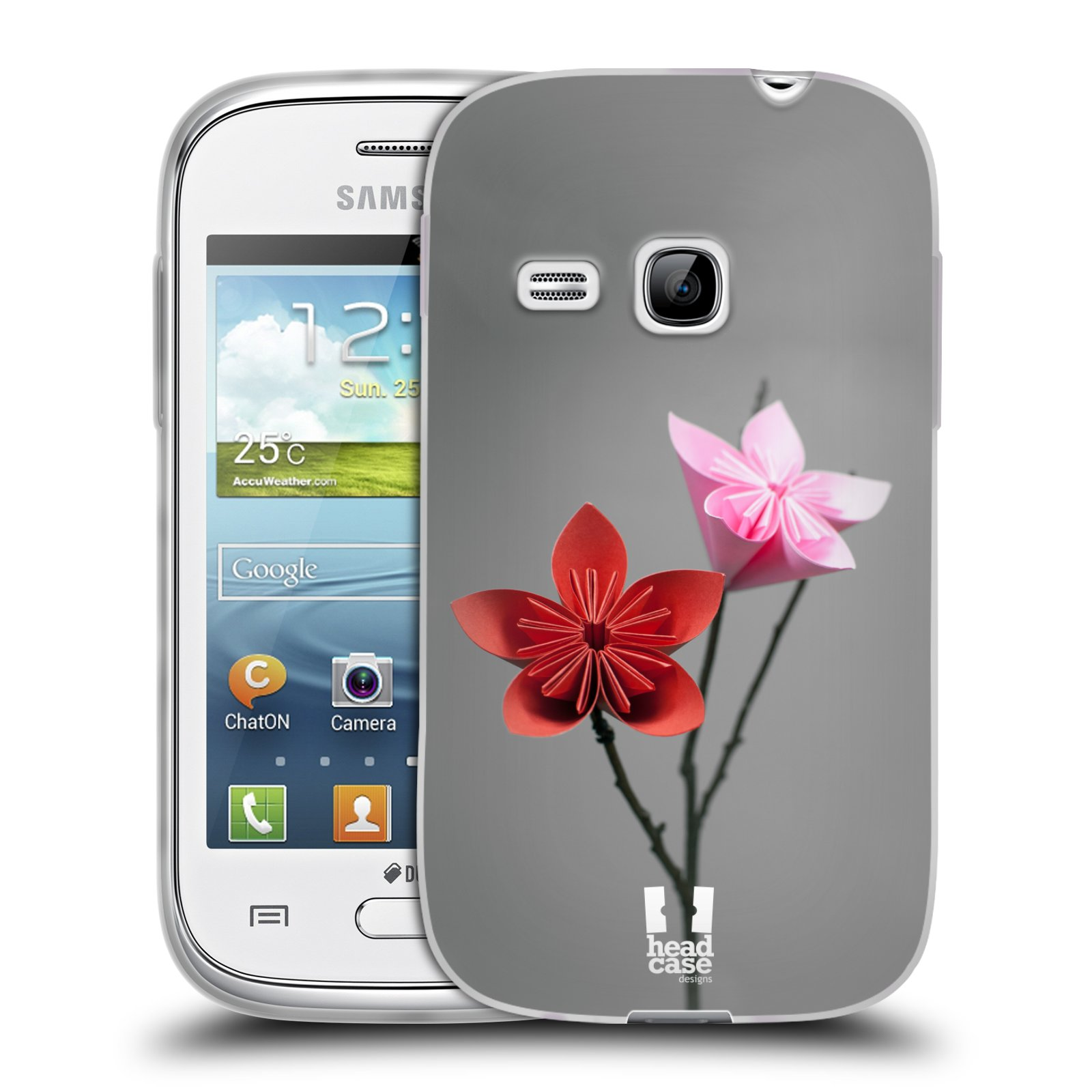 Silikonové pouzdro na mobil Samsung Galaxy Young HEAD CASE KUSUDAMA (Silikonový kryt či obal na mobilní telefon Samsung Galaxy Young GT-S6310)