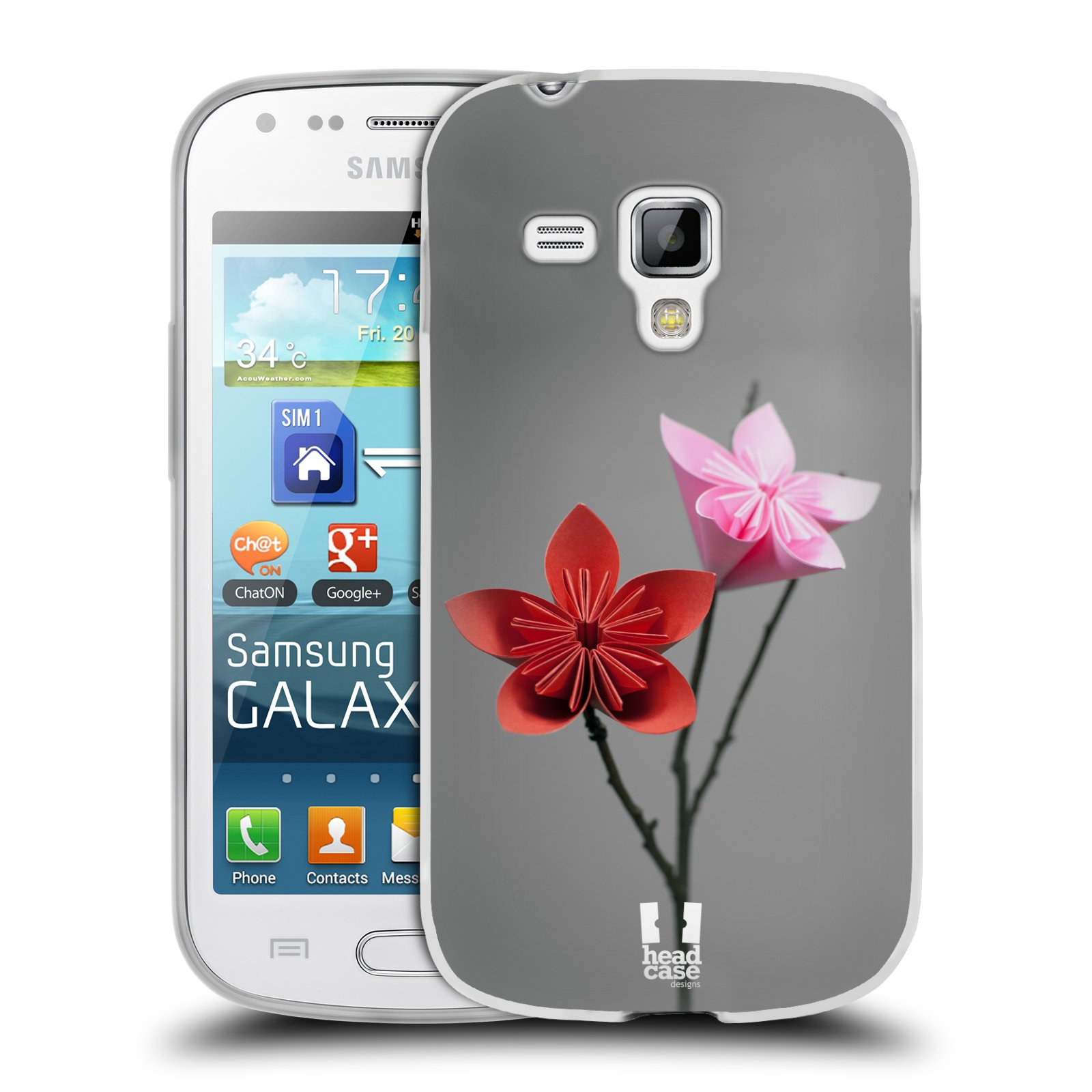 Silikonové pouzdro na mobil Samsung Galaxy Trend HEAD CASE KUSUDAMA (Silikonový kryt či obal na mobilní telefon Samsung Galaxy Trend GT-S7560)
