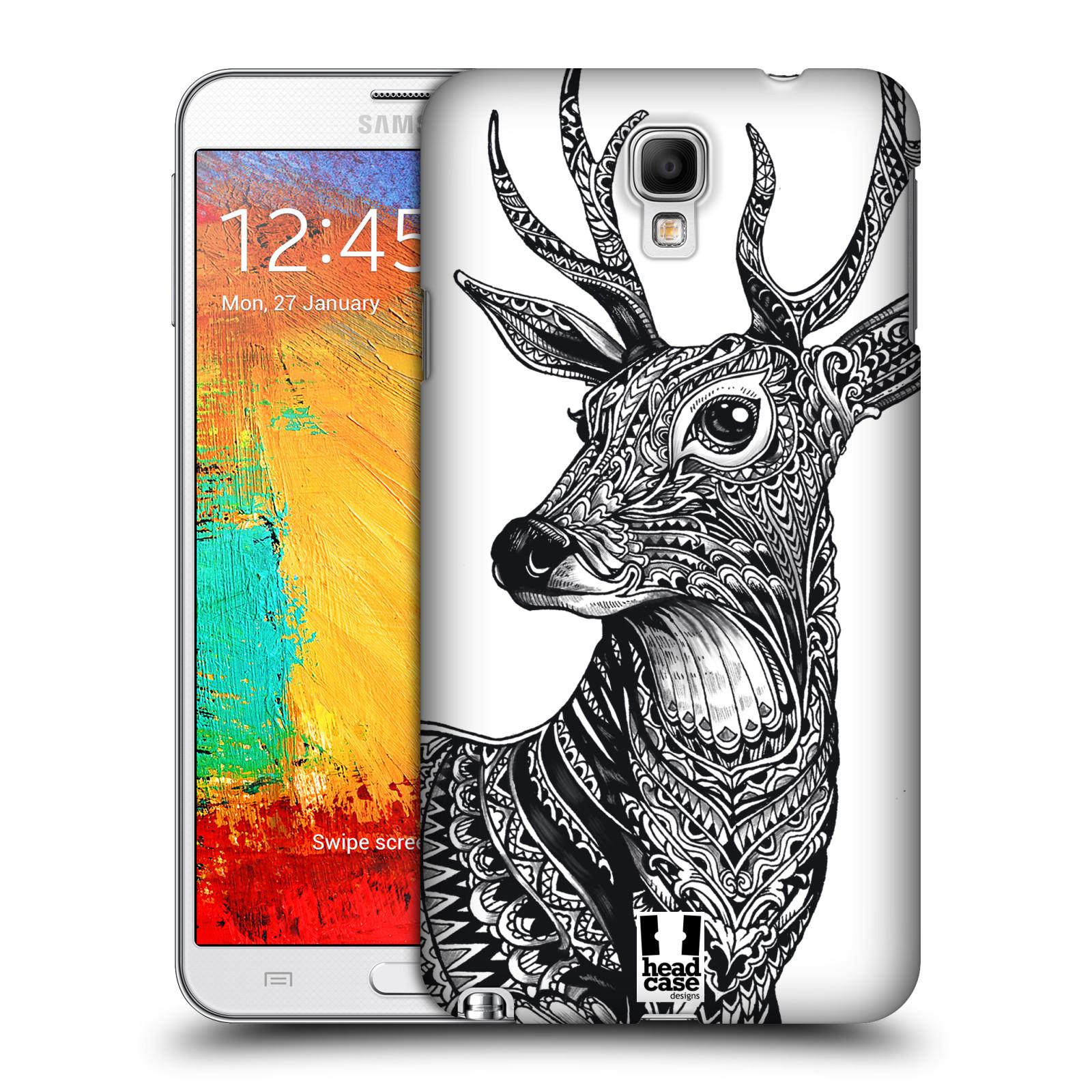 Plastové pouzdro na mobil Samsung Galaxy Note 3 Neo HEAD CASE Zdobený Jelínek (Plastový kryt či obal na mobilní telefon Samsung Galaxy Note 3 Neo SM-N7505)