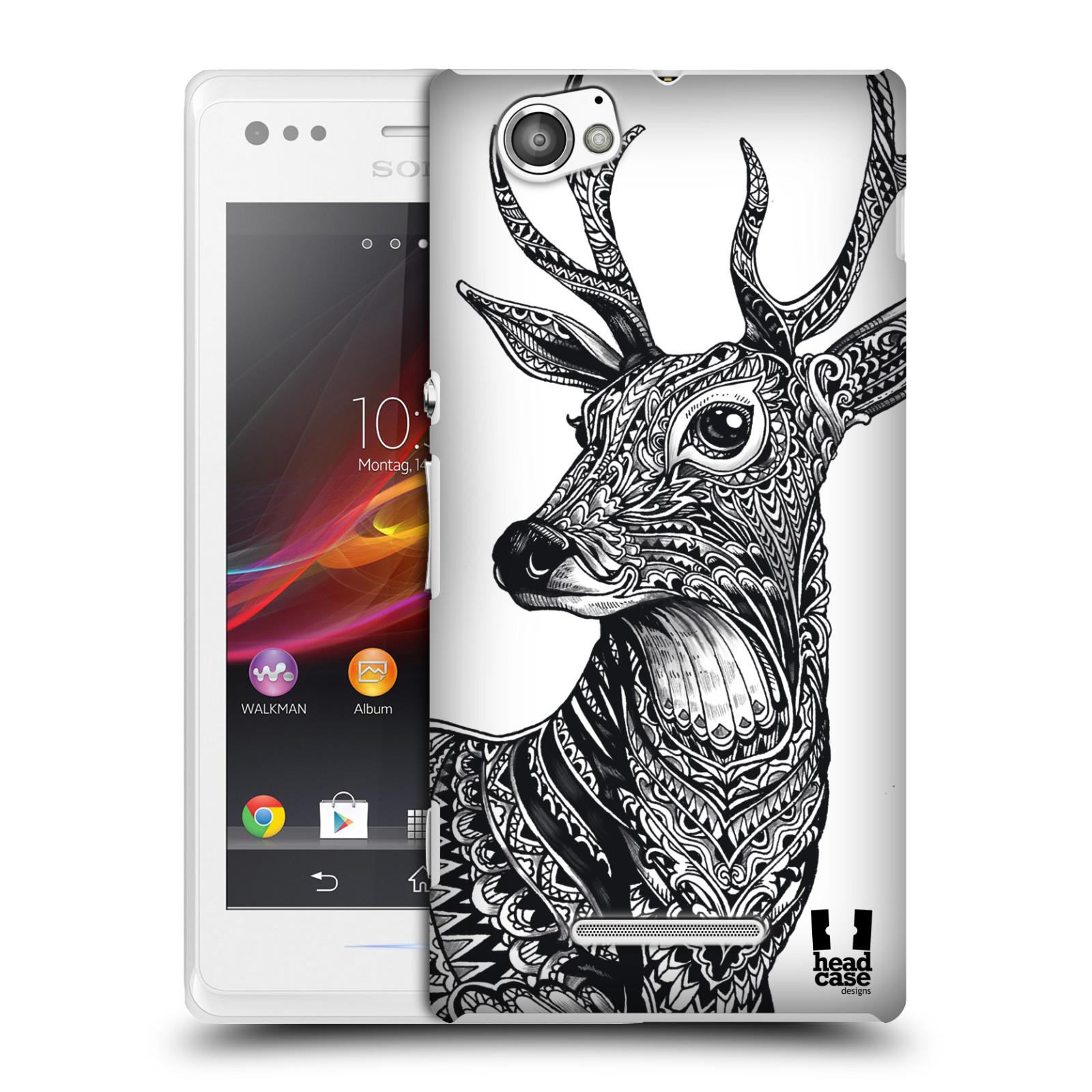 Plastové pouzdro na mobil Sony Xperia M C1905 HEAD CASE Zdobený Jelínek (Plastový kryt či obal na mobilní telefon Sony Xperia M )