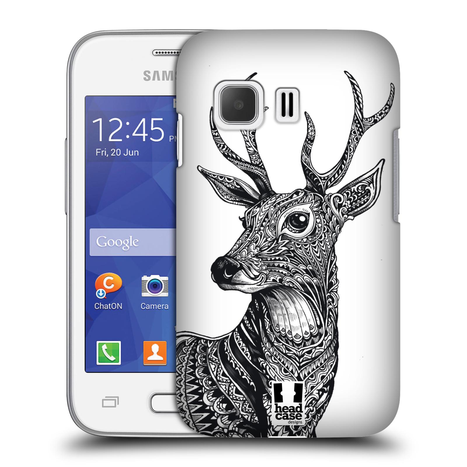 Plastové pouzdro na mobil Samsung Galaxy Young 2 HEAD CASE Zdobený Jelínek (Plastový kryt či obal na mobilní telefon Samsung Galaxy Young 2 SM-G130)