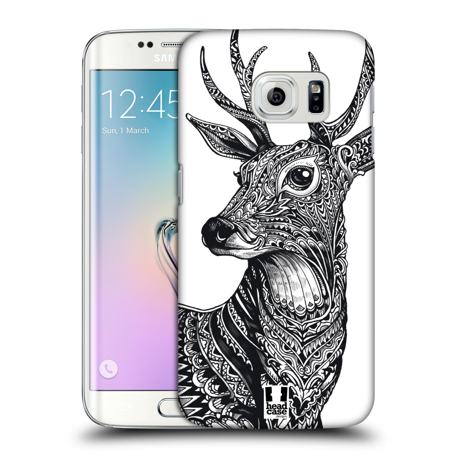Plastové pouzdro na mobil Samsung Galaxy S6 Edge HEAD CASE Zdobený Jelínek (Plastový kryt či obal na mobilní telefon Samsung Galaxy S6 Edge SM-G925F)