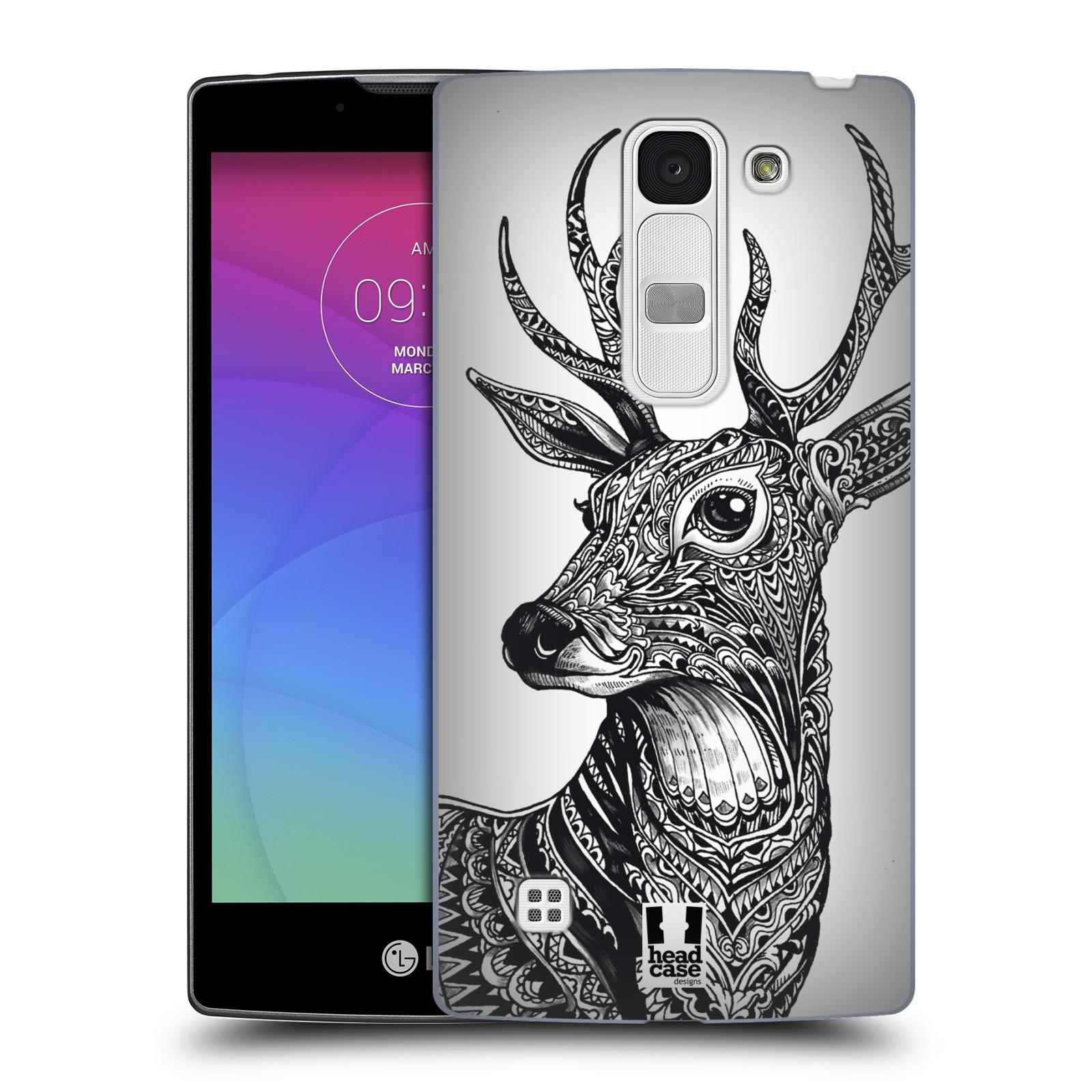 Plastové pouzdro na mobil LG Spirit LTE HEAD CASE Zdobený Jelínek (Plastový kryt či obal na mobilní telefon LG Spirit H420 a LG Spirit LTE H440N)