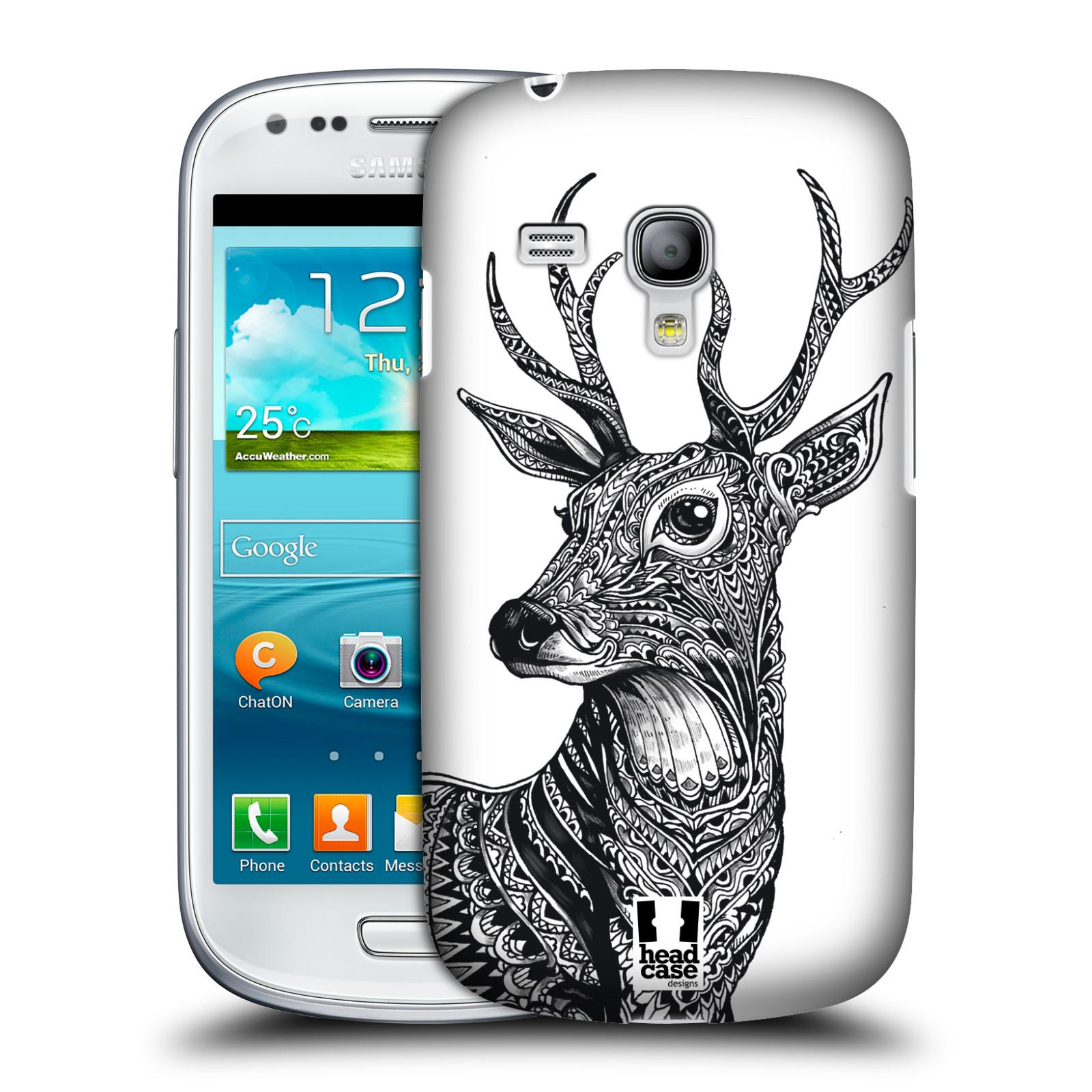 Plastové pouzdro na mobil Samsung Galaxy S III Mini HEAD CASE Zdobený Jelínek (Plastový kryt či obal na mobilní telefon Samsung Galaxy S III Mini GT-i8190)