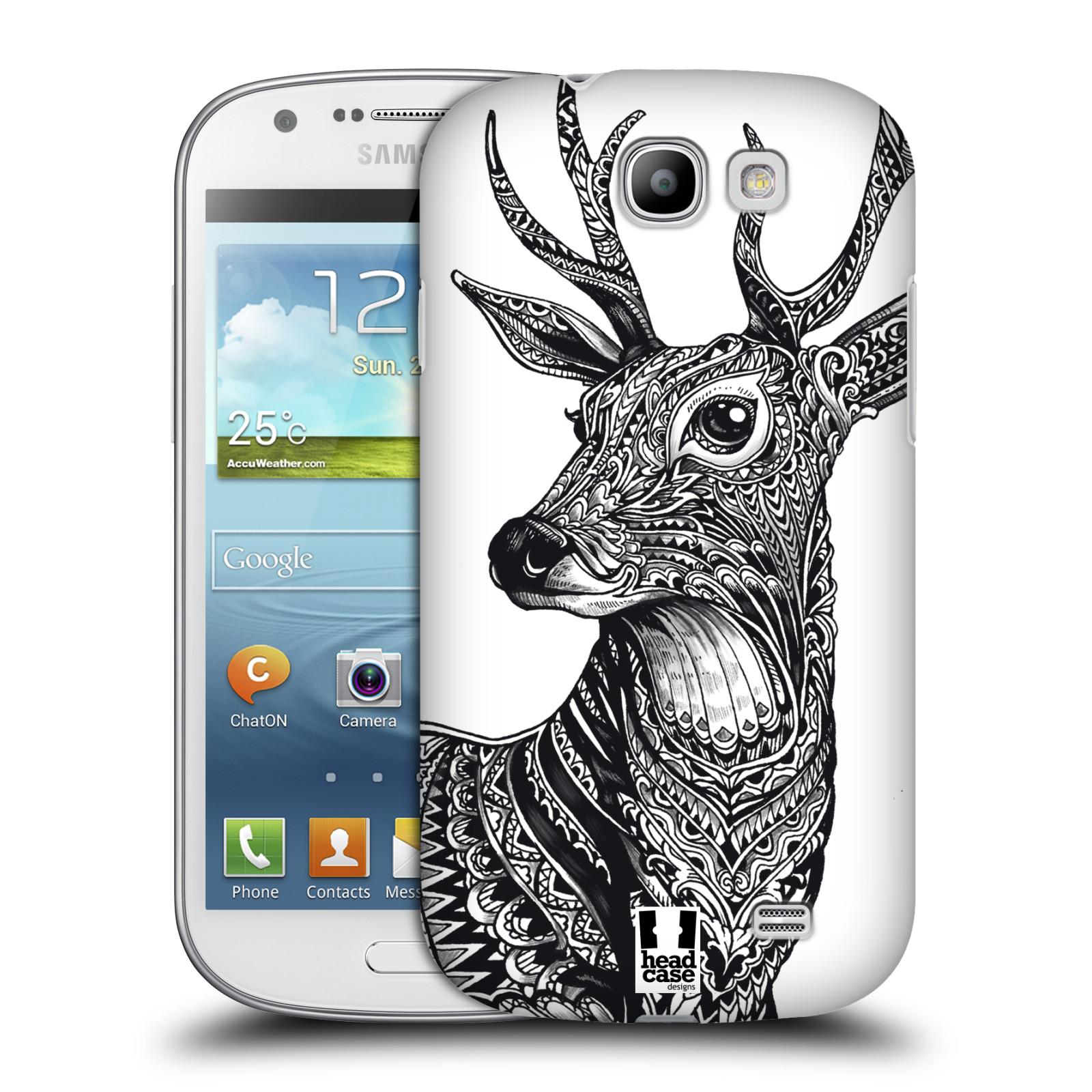 Plastové pouzdro na mobil Samsung Galaxy Express HEAD CASE Zdobený Jelínek (Plastový kryt či obal na mobilní telefon Samsung Galaxy Express GT-i8730)